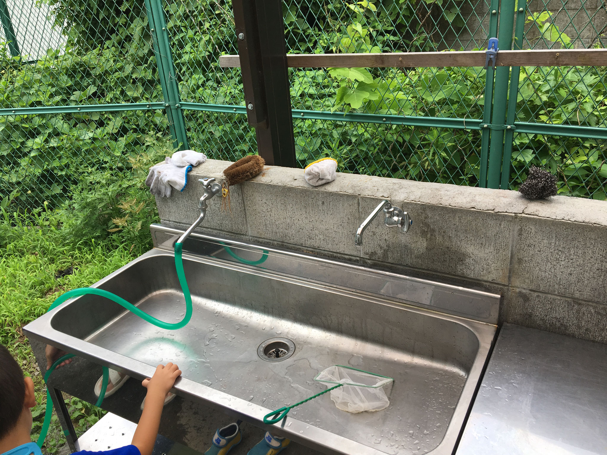 食材の洗浄などに便利