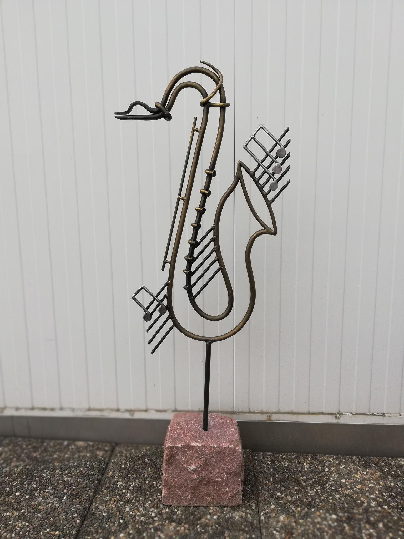 Ein tanzendes Saxophon