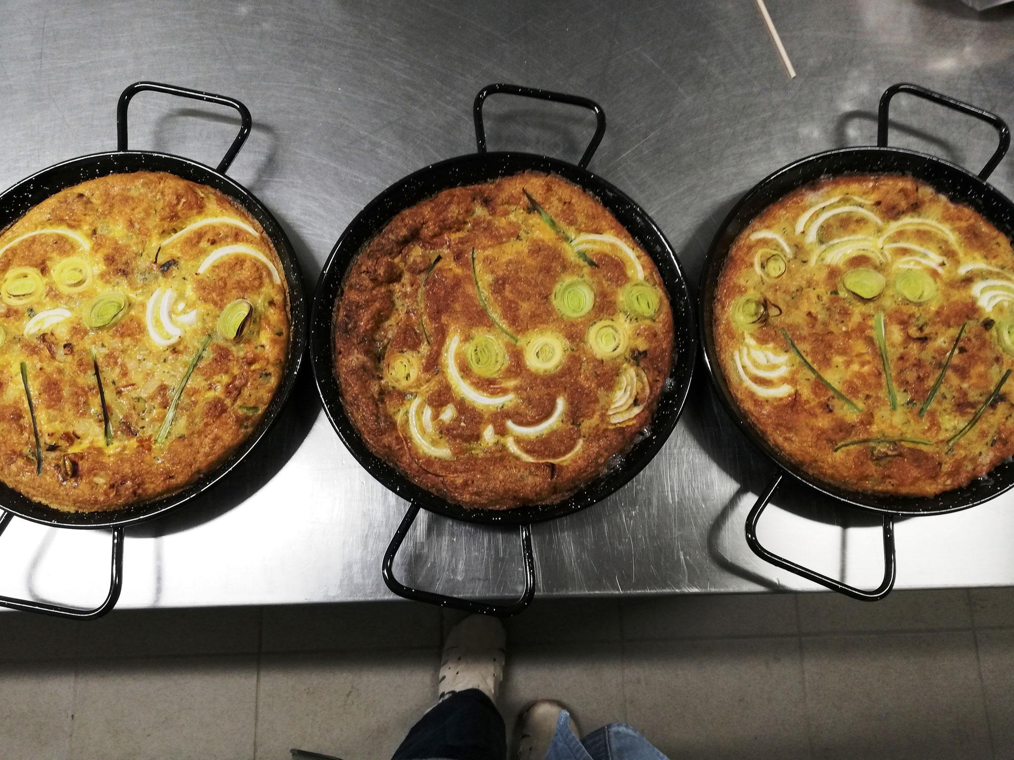 Tortilla Espanola - vegetarische Kartoffel- Lauchpfanne