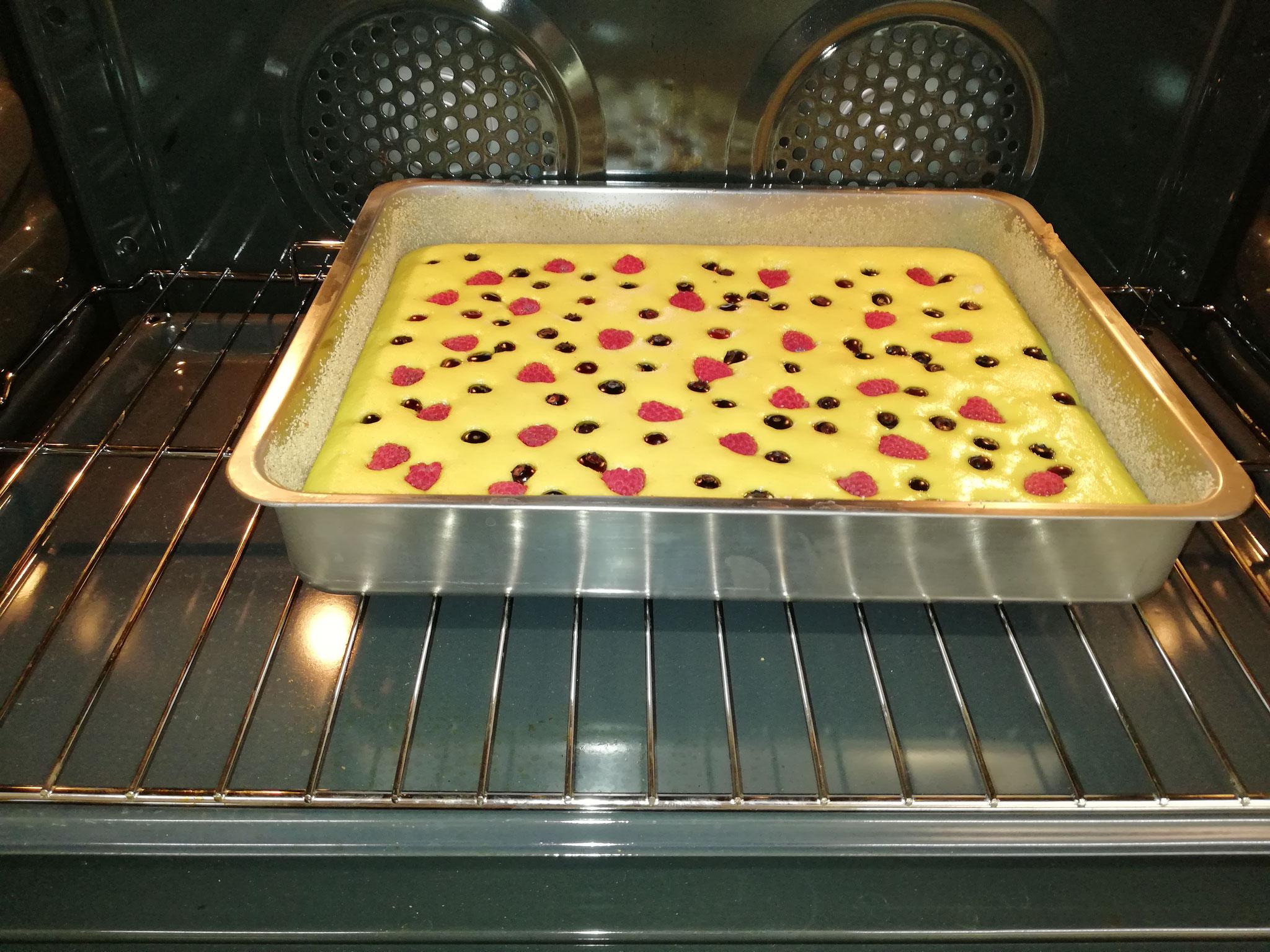 Ein Hauskuchen entsteht