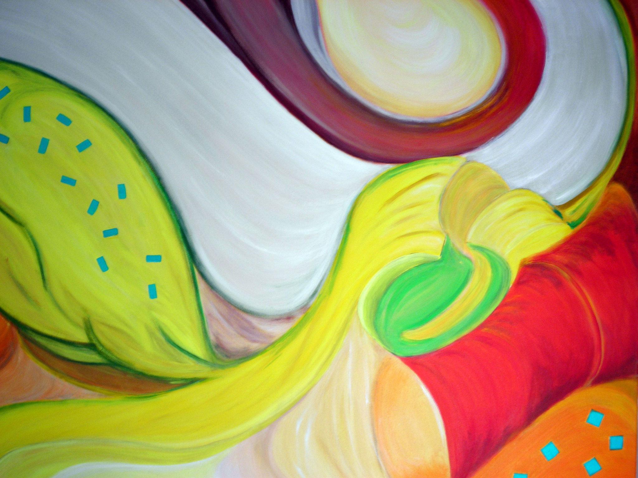 Engel. € 1.300 - Acryl auf Leinwand 120 x 100 cm
