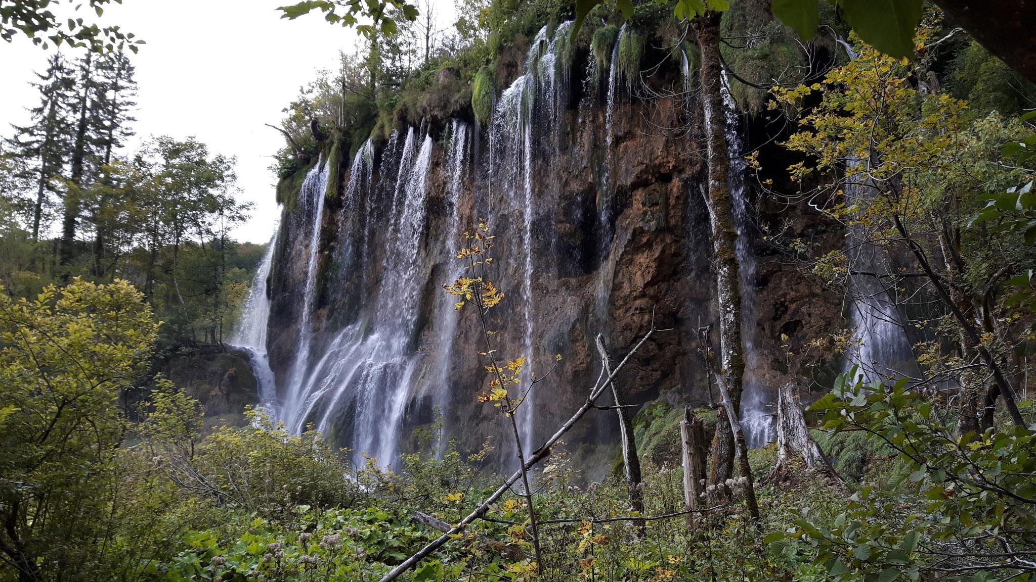 Wasserfall bei den Plitvitzer Seen