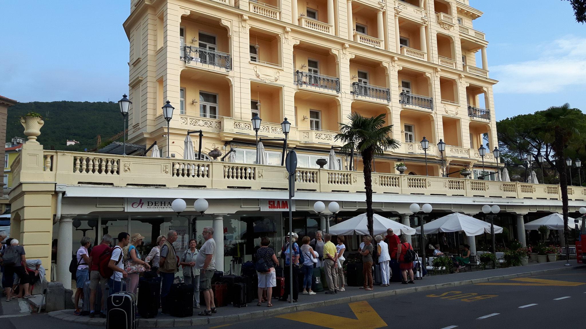 Abreise von Opatija