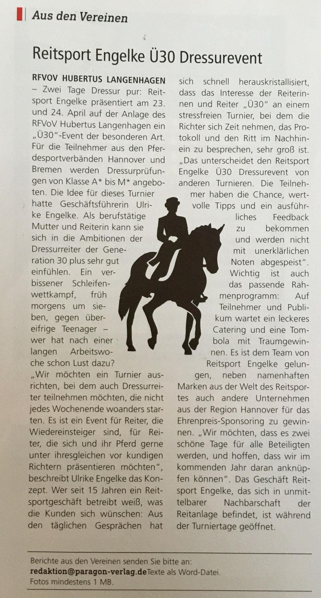Reitsport Magazin, Ausgabe April 2016, Seite 55