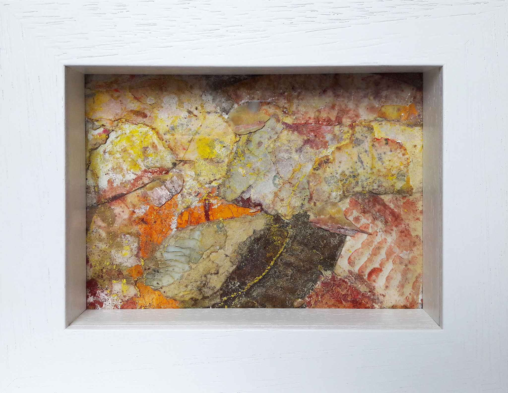 Papperlapapp 2, Acrylmischtechnik, 23 x 18 mit Rahmen, 2017, 140 Euro