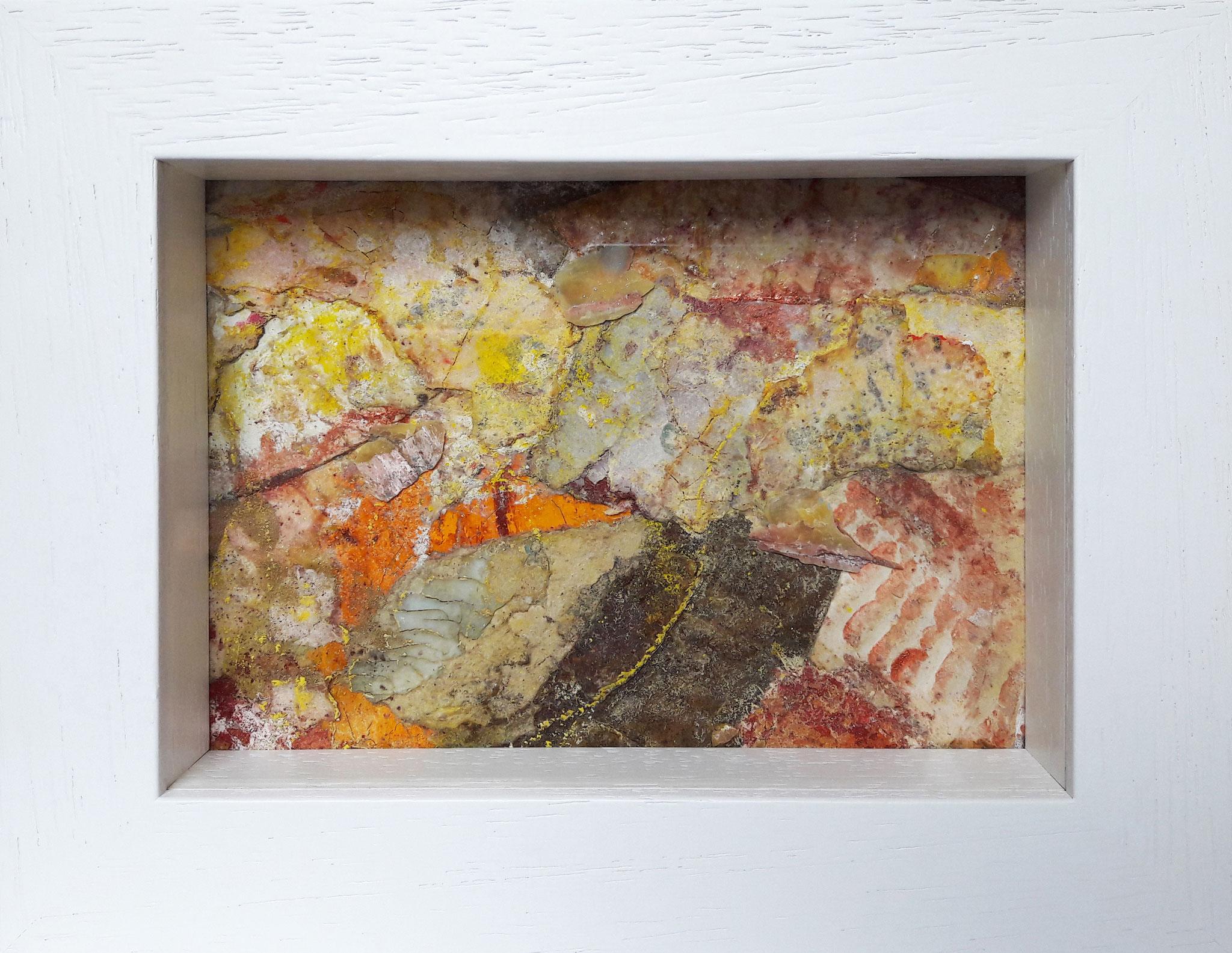 Papperlapapp 2, Acrylmischtechnik, 23 x 18 mit Rahmen, 2017,  verkauft