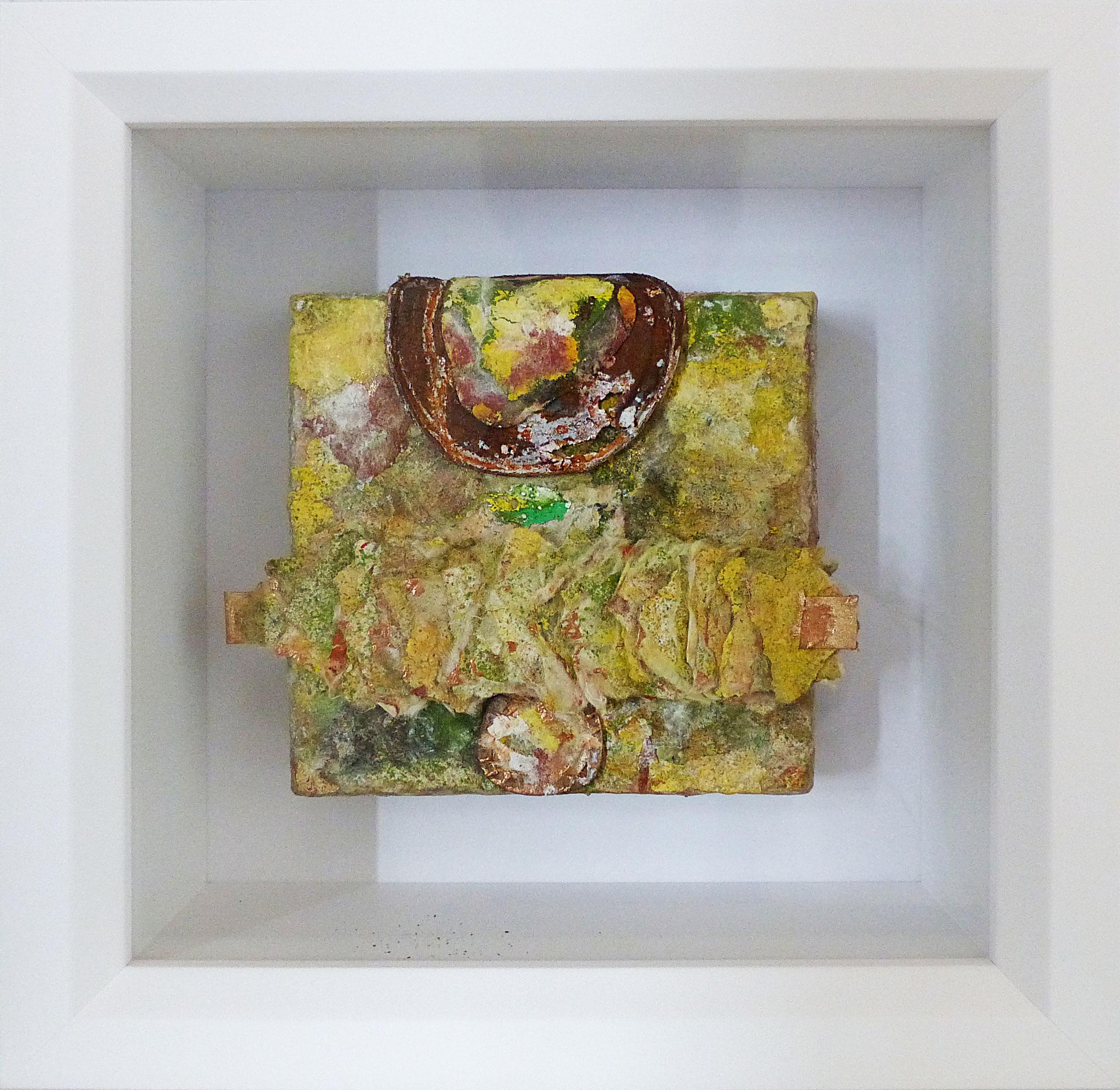Blätterwald, 2018, 20x20cm im Objektrahmen, 210 Euro