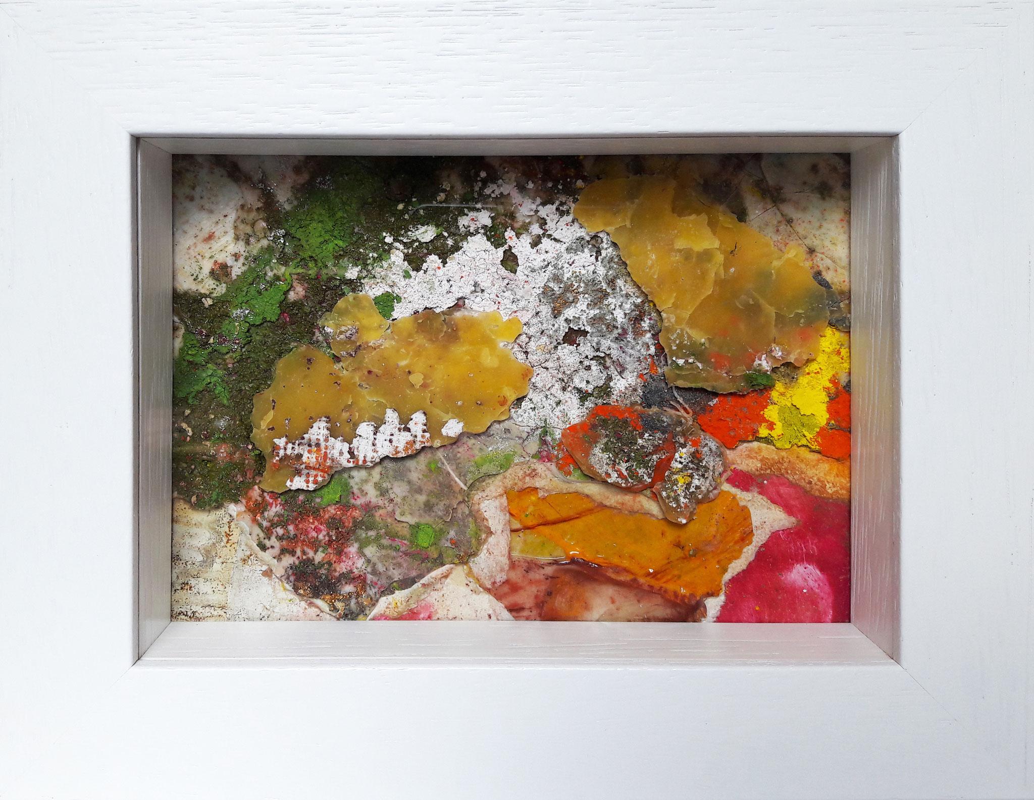 Papperlapapp 5, Acrylmischtechnik, 23 x 18 mit Rahmen, 2017,  verkauft