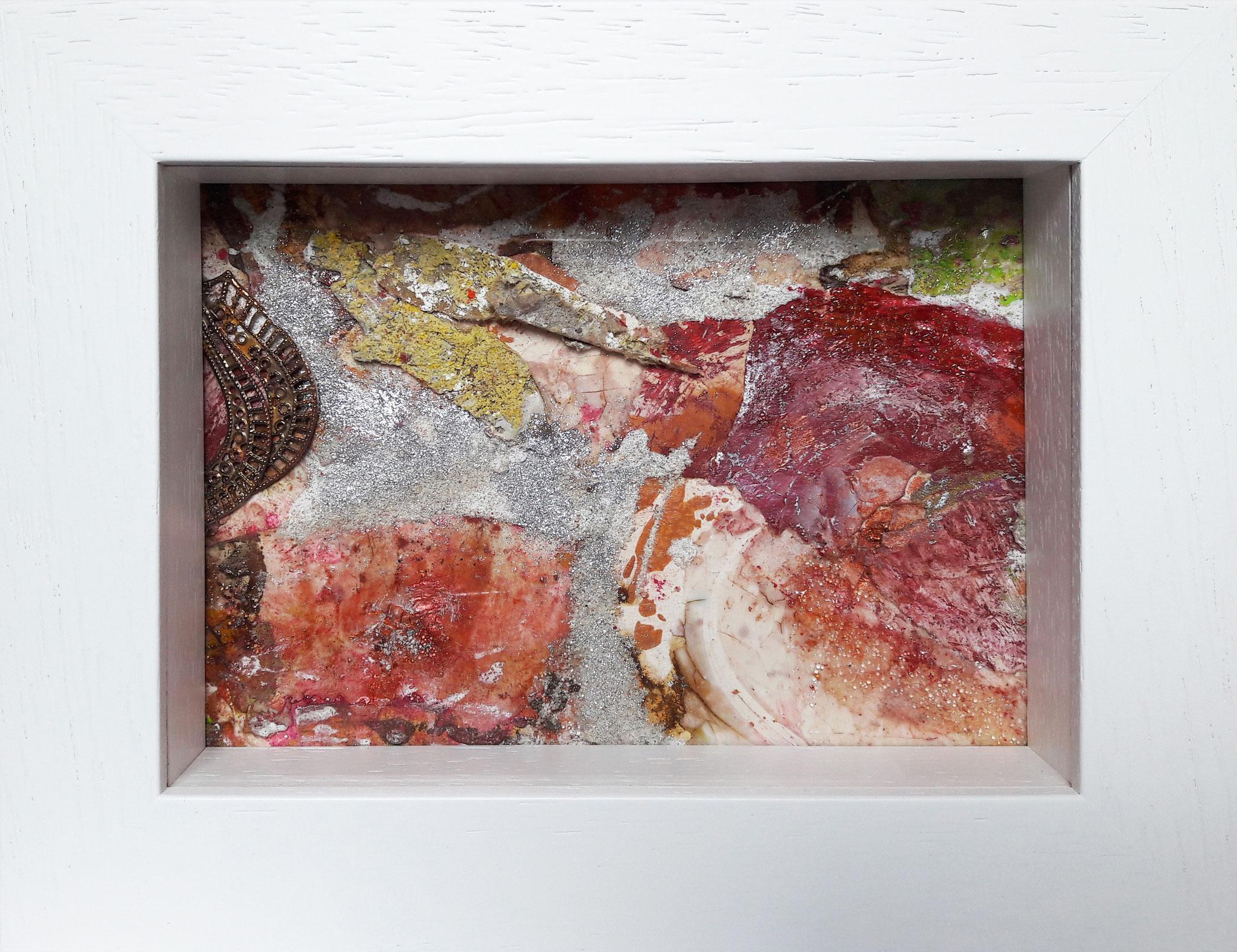 Papperlapapp 3, Acrylmischtechnik, 23 x 18 mit Rahmen, 2017, verkauft