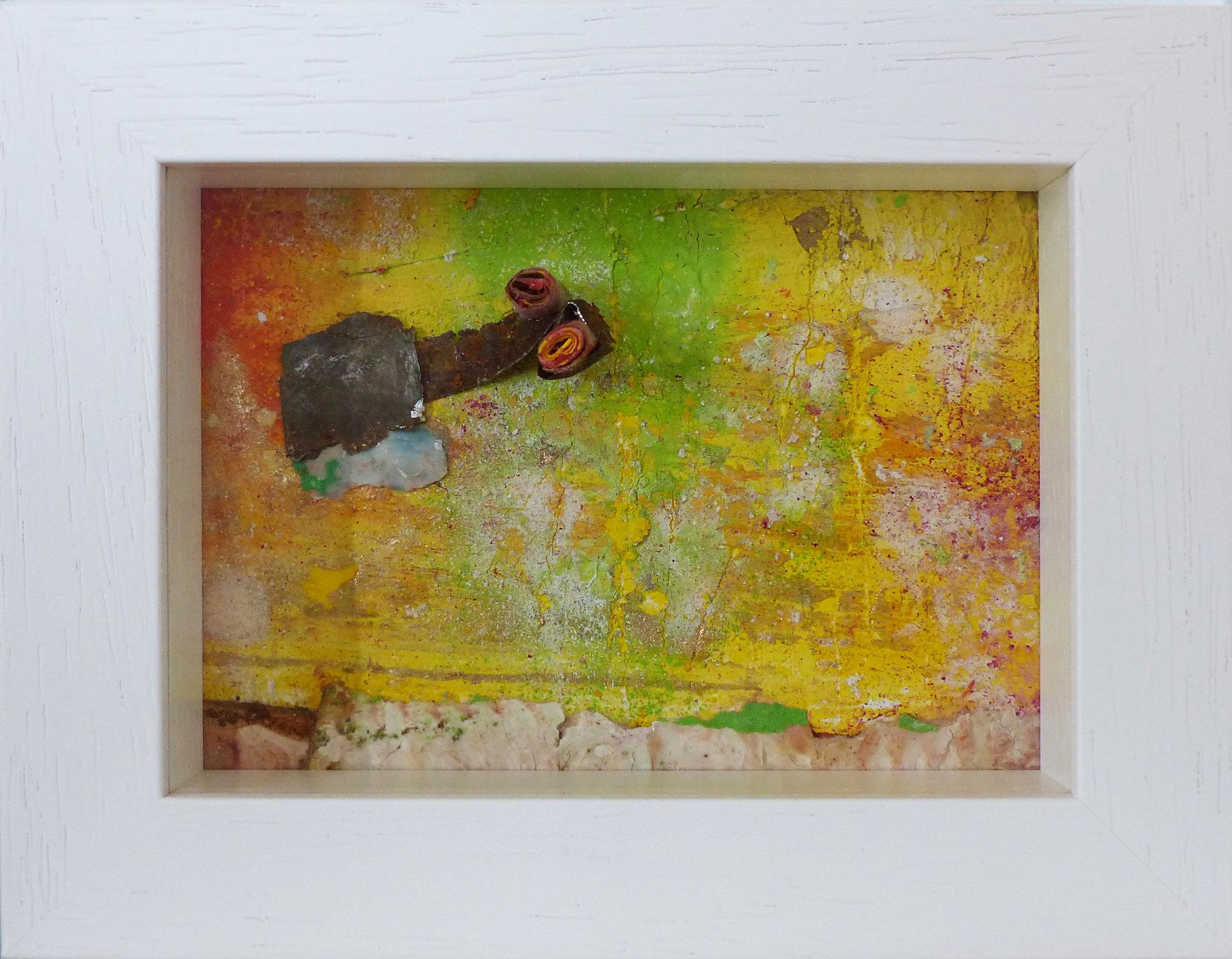 Papperlapapp 1, Acrylmischtechnik, 23 x 18 mit Rahmen, 2018,  verkauft