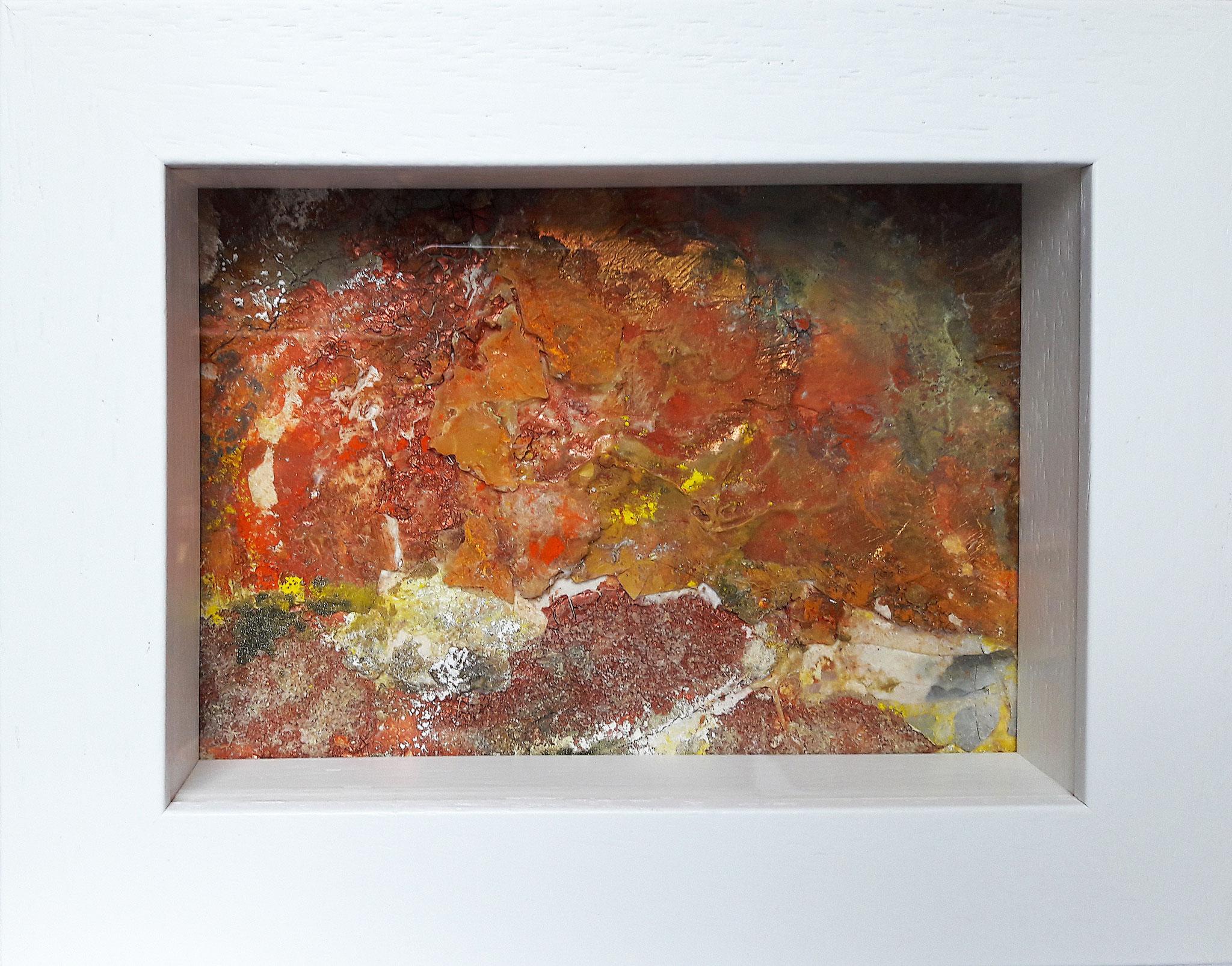 Papperlapapp 7, Acrylmischtechnik, 23 x 18 mit Rahmen, 2017, 140 Euro