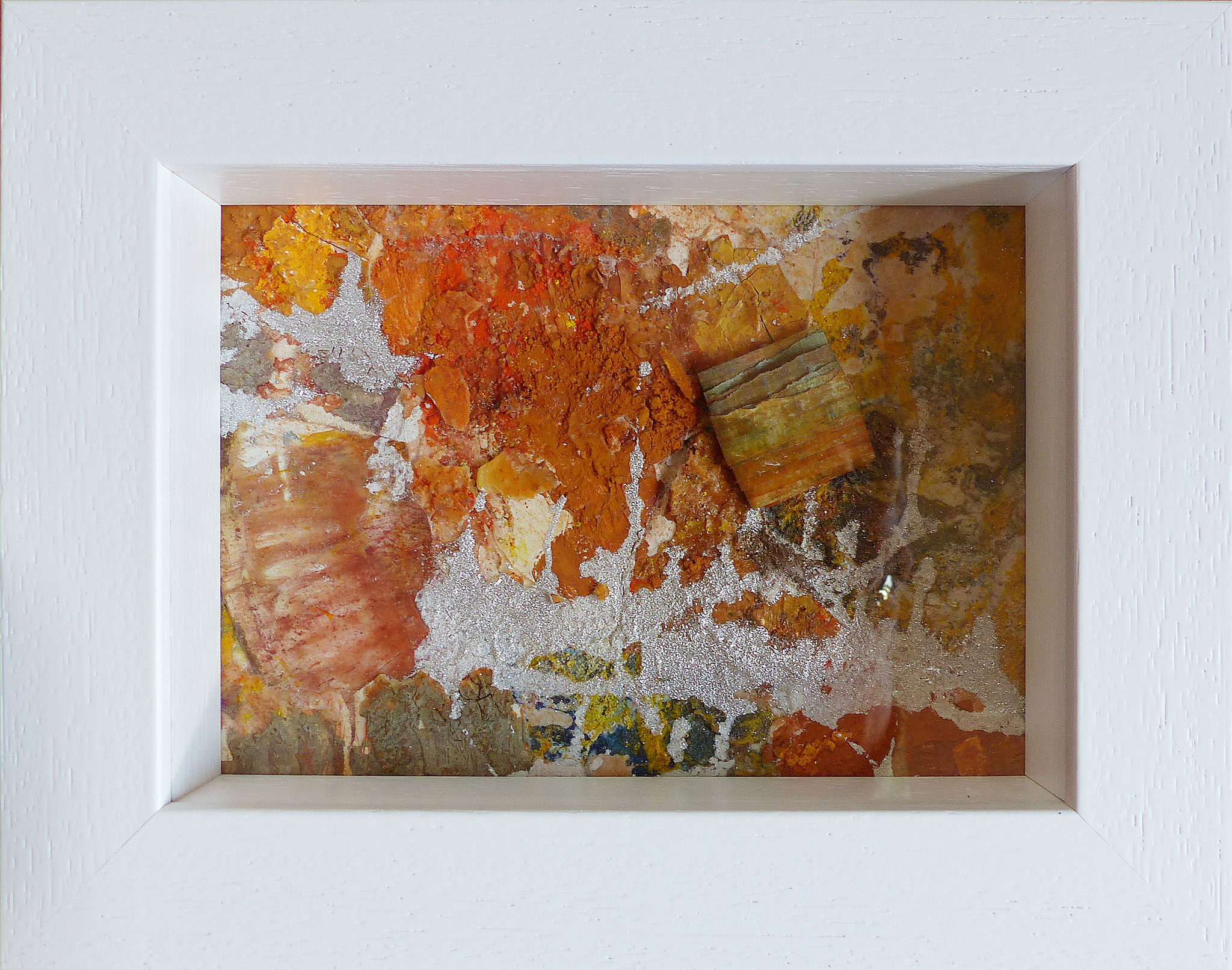Papperlapapp 8, Acrylmischtechnik, 23 x 18 mit Rahmen, 2017,  verkauft