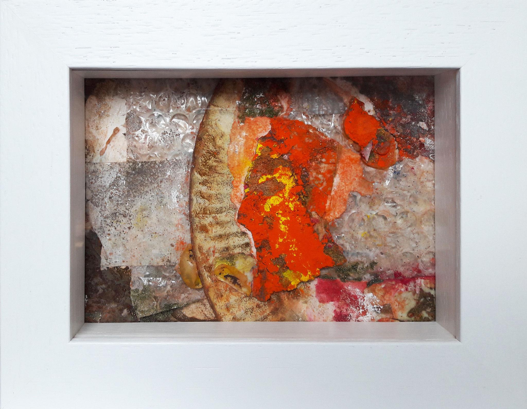 Papperlapapp 4, Acrylmischtechnik, 23 x 18 mit Rahmen, 2017, 140 Euro