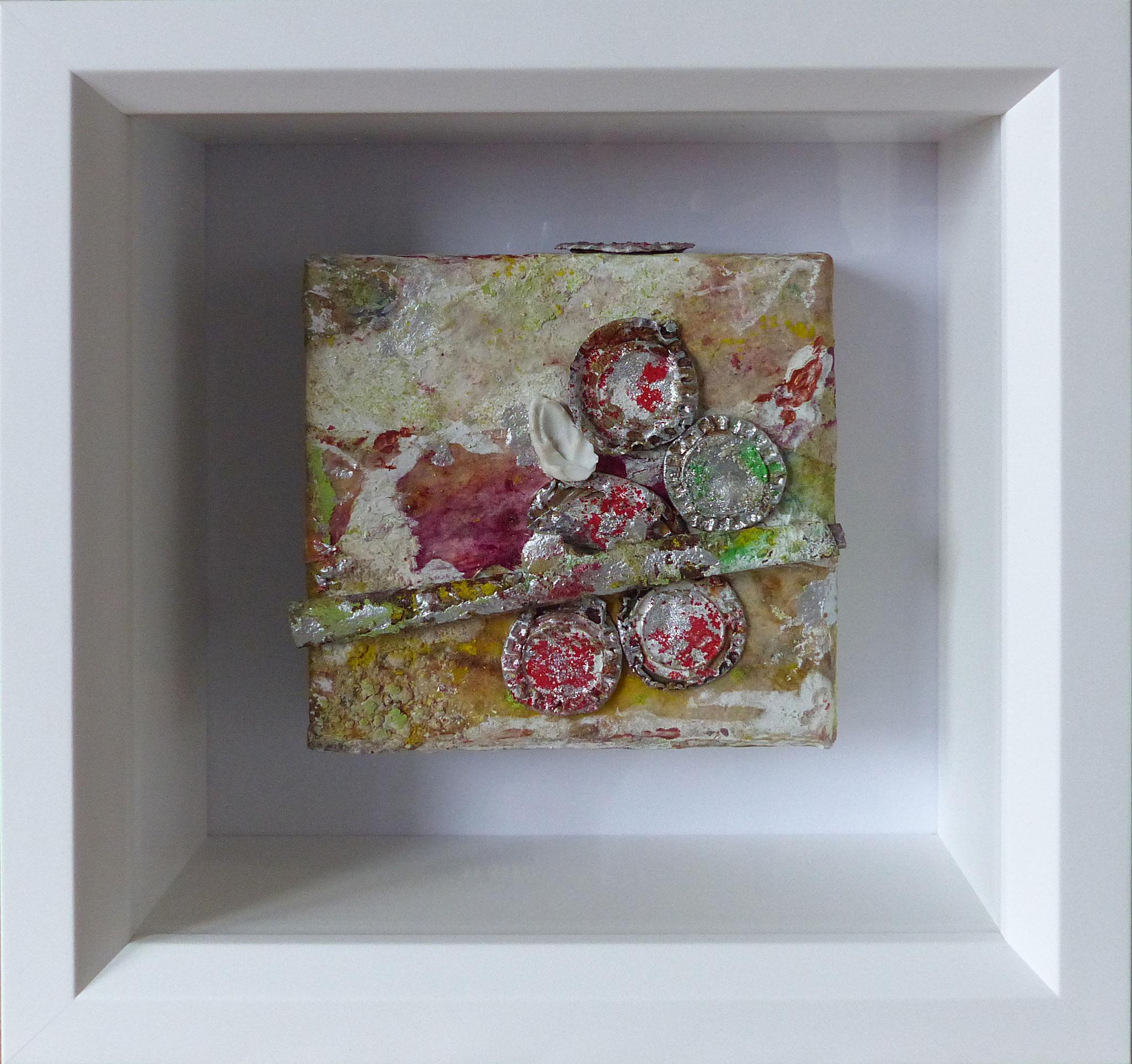 Löffelchen, 2018, 20x20 cm im Objektrahmen, verkauft