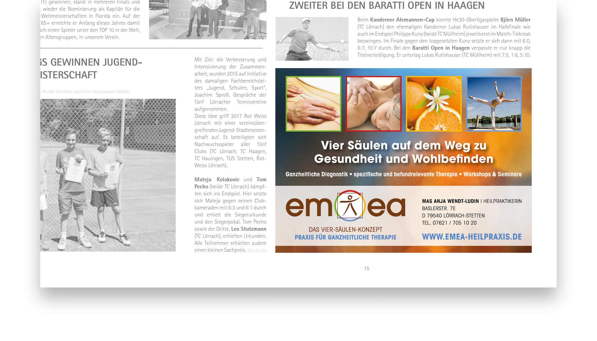 Imageanzeige für die Heilpraxis EMEA, Lörrach.