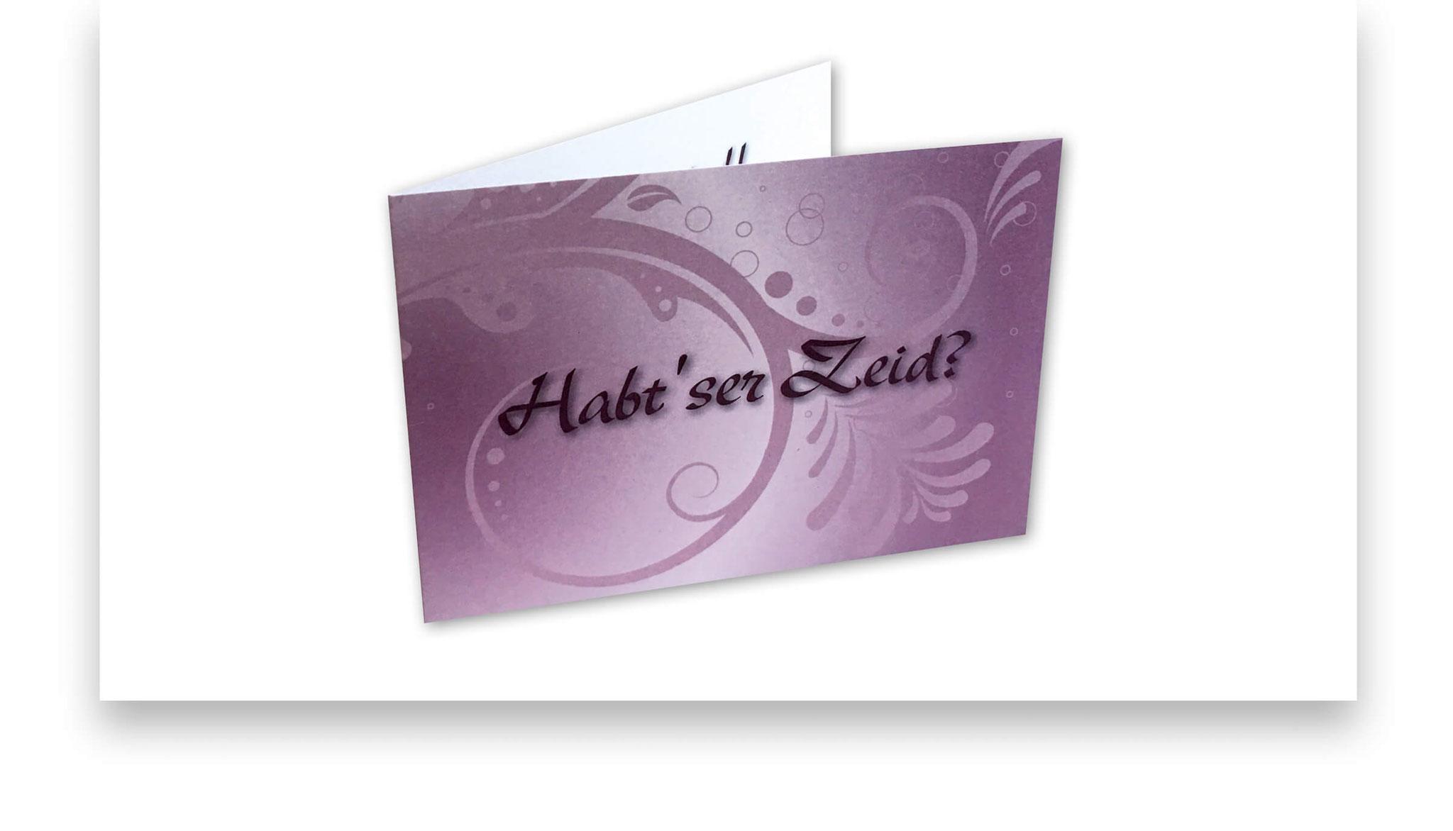Einladungskarte zu einem privaten Anlass.