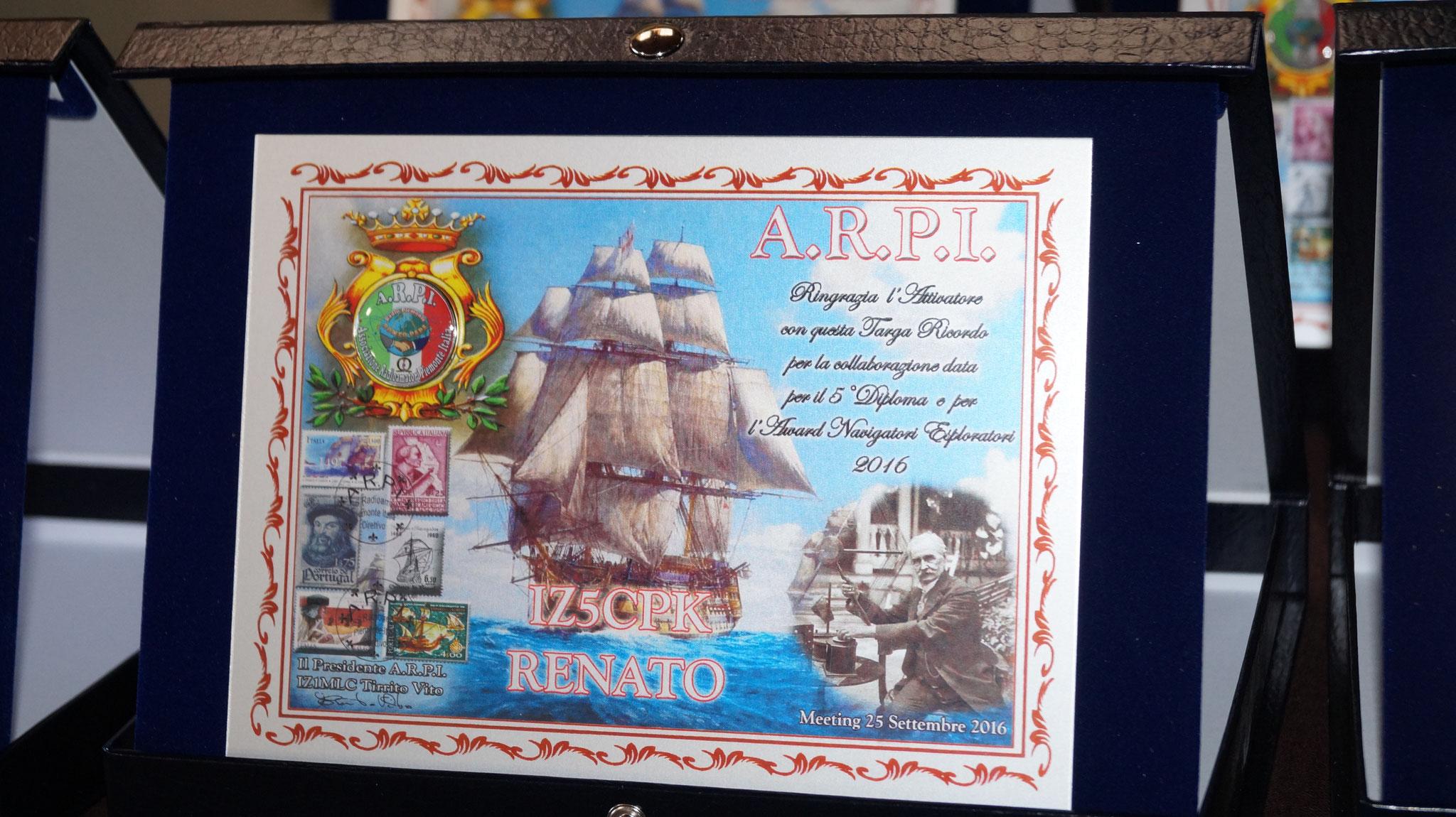 ° Class. modo CW(Attivatori) Diploma Navigatori Esploratori   IZ5CPK  RENATO