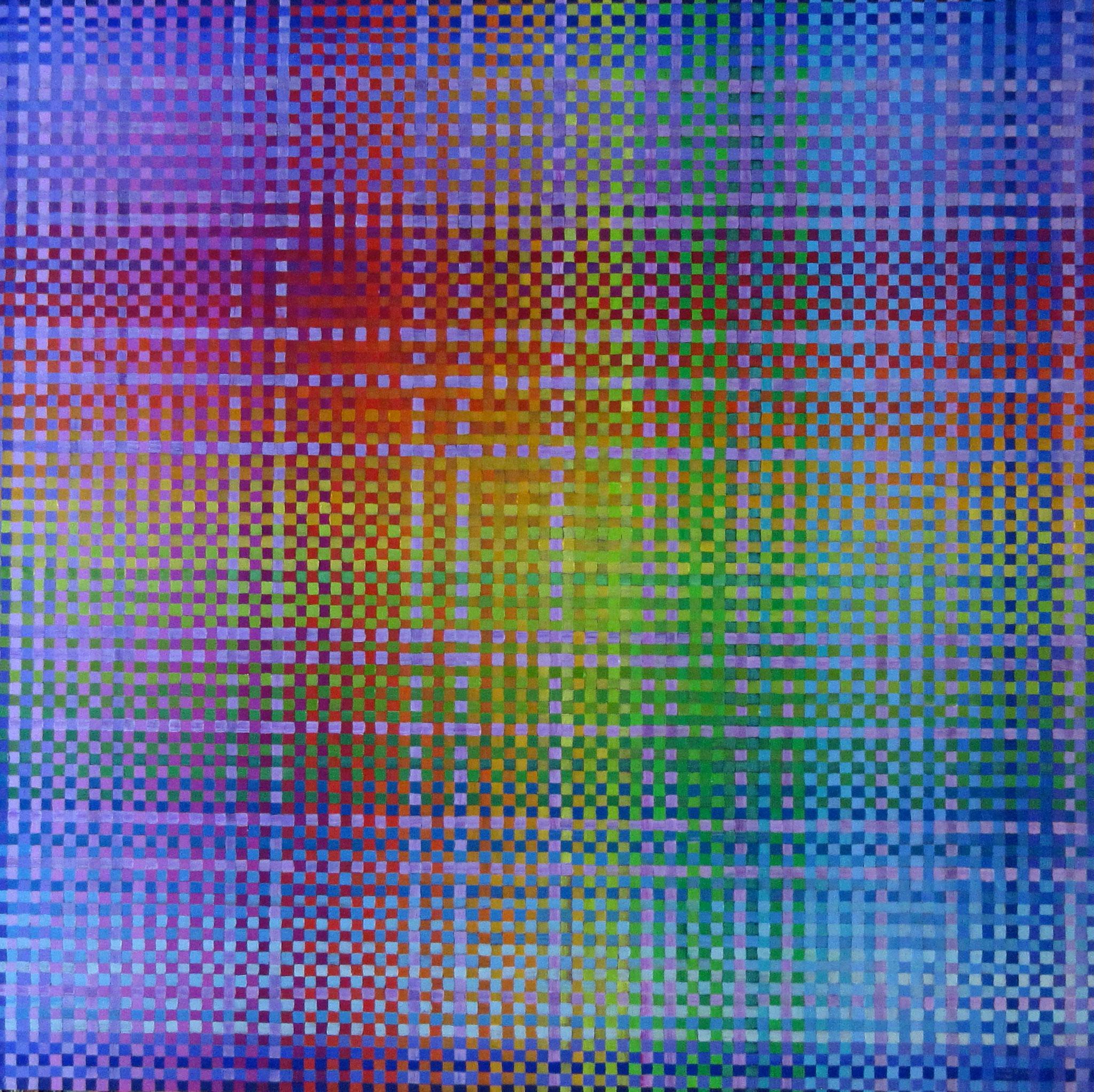 Plaid IV, oil on canvas 48x48, Dec.2016