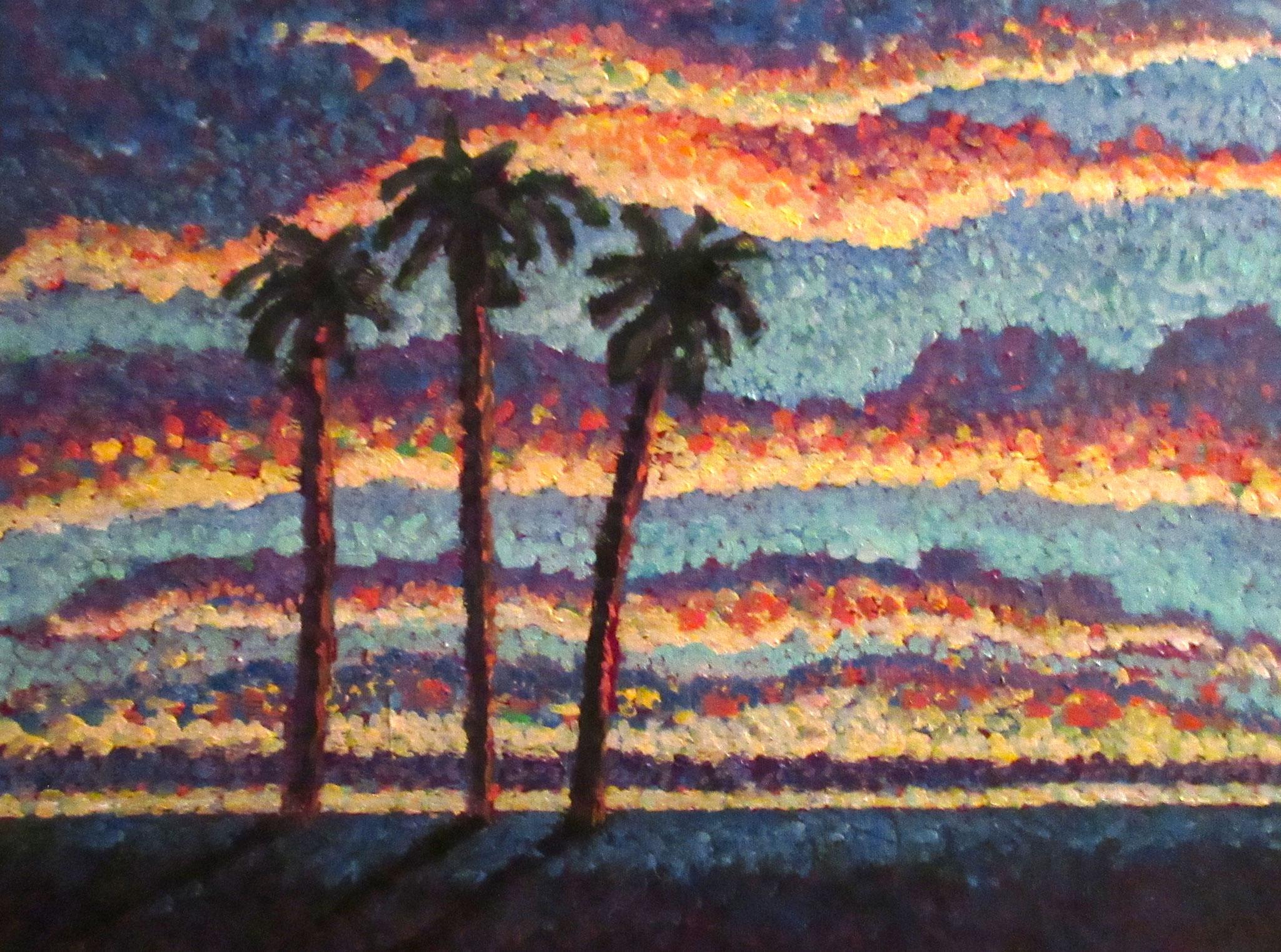 Sunset, oil on canvas 12x16, November 2016 - (1)