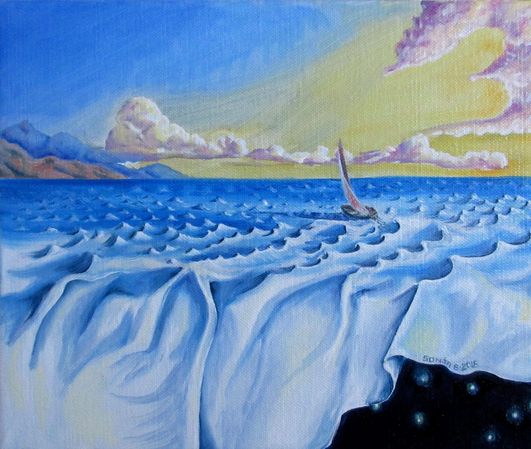 (Inspired by Vladimir Kush), oil on canvas 10x12, Sept.2016 - (1-2)