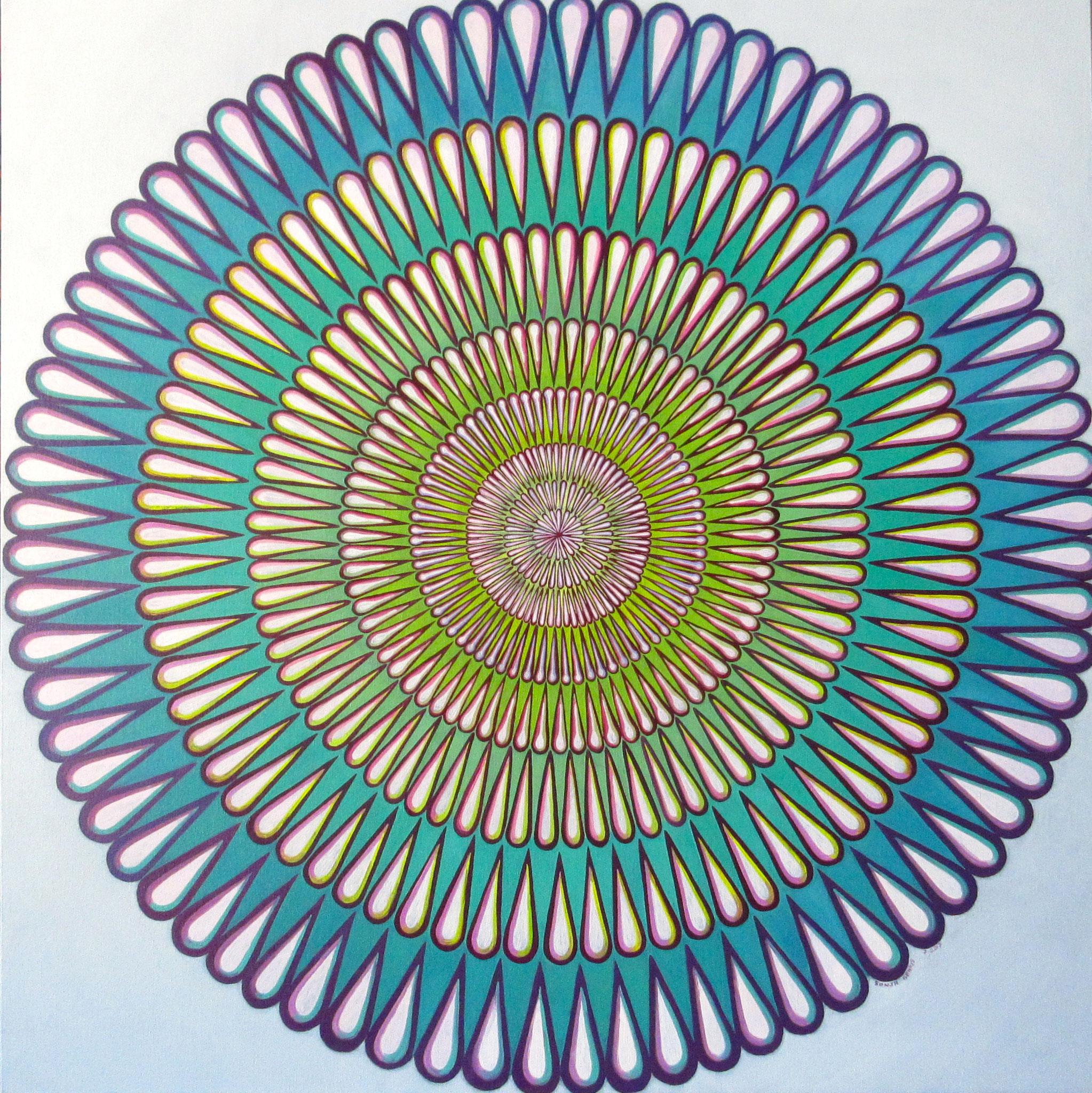 """Slinky"" oil on canvas 36x36, June 2017 (7-8)"