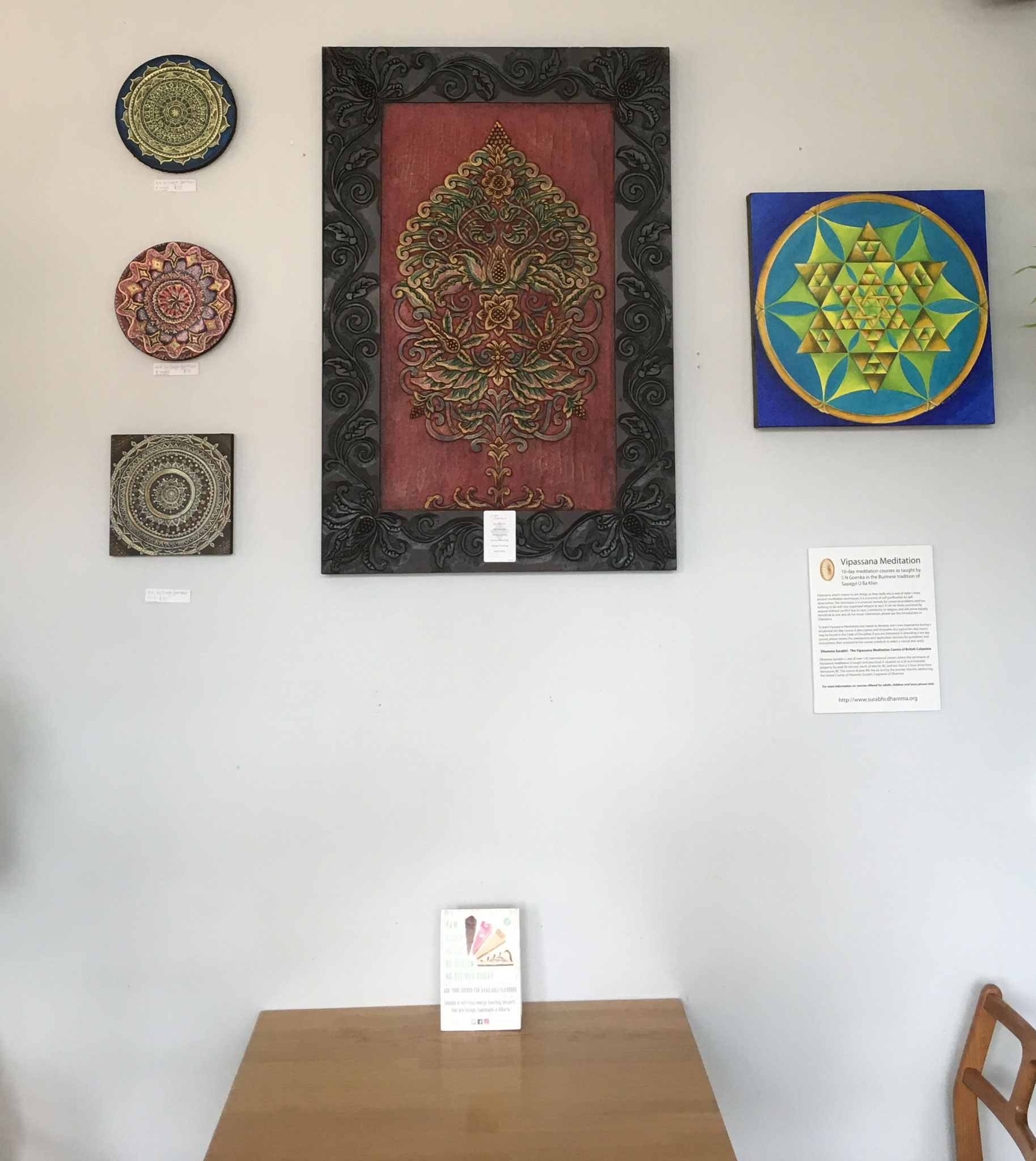 July 10/2017 to Aug.17/17 at the Lotus Seed Restaurant in Vancouver, B.C. (2 sold)