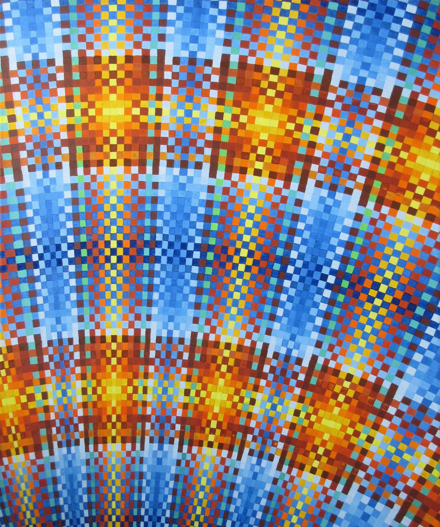 "#451 - ""Fabric of Life III"", oil on canvas 30x36, Feb.2018"
