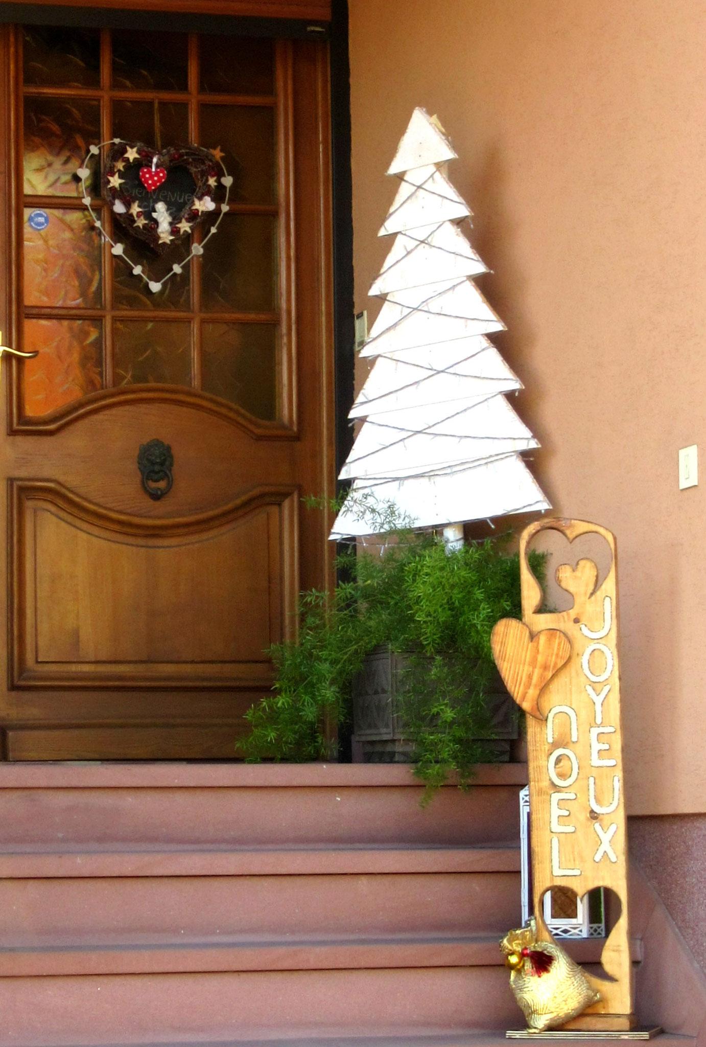 Sapin réalisé avec du lambris bois pin blanc