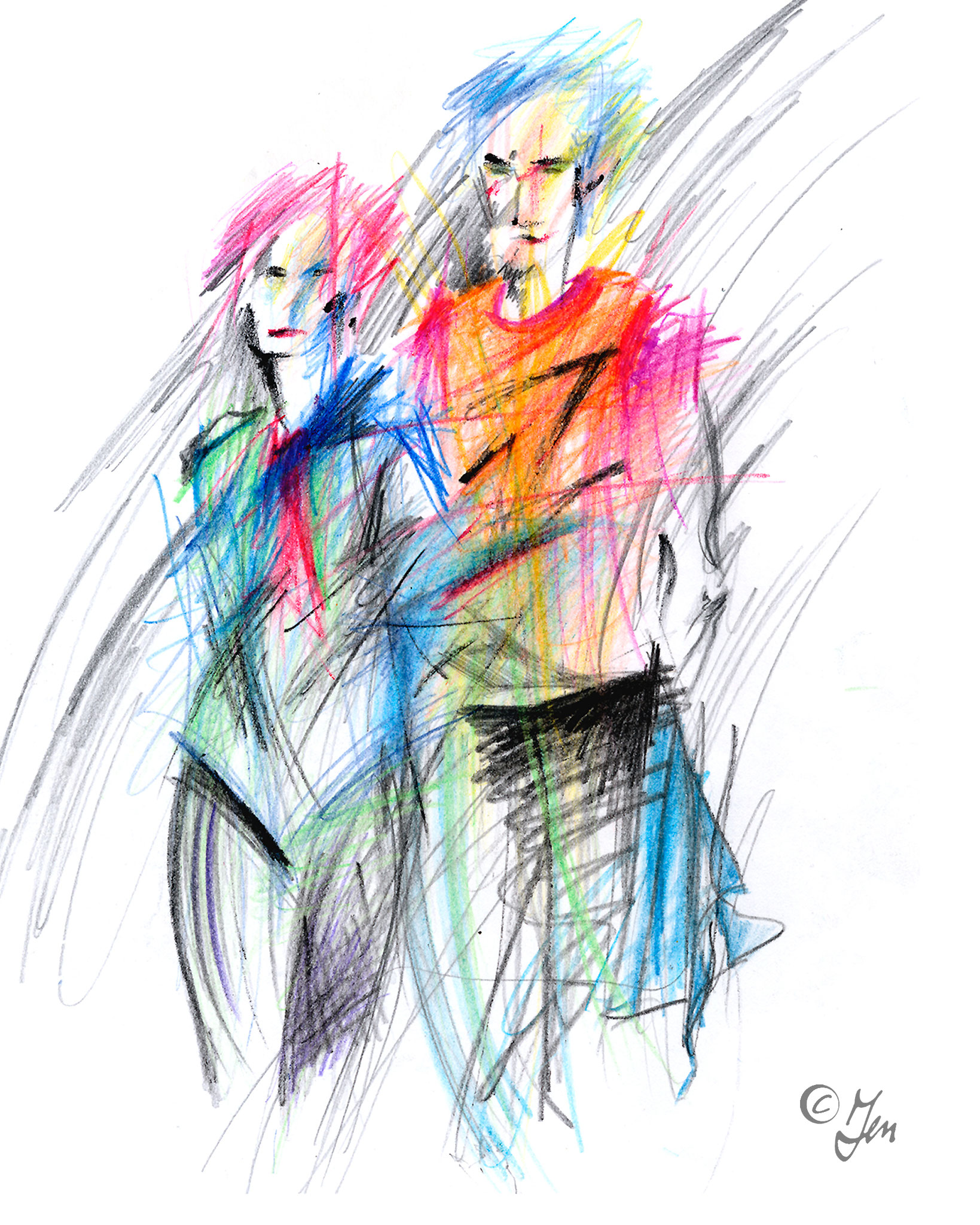 Illustration < Studenten > Magazin Audimax, Nürnberg