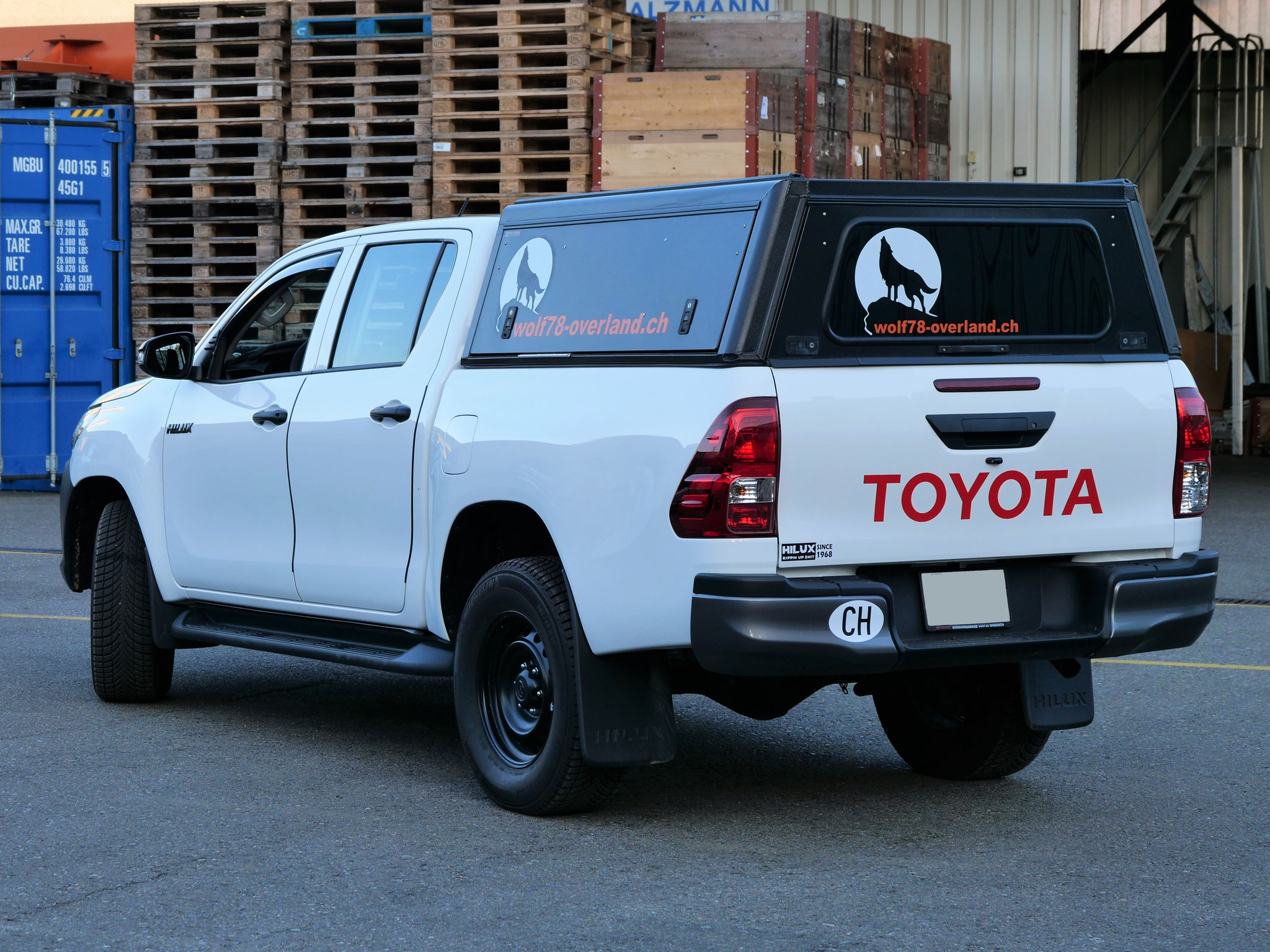 Toyota Hilux Revo 2017 2.4 Olaf Alu-cab offroad overland expedition 4x4 ARB Frontrunner Rival4x4 bfgoodrich 265/70R17 wolf78-overland.ch