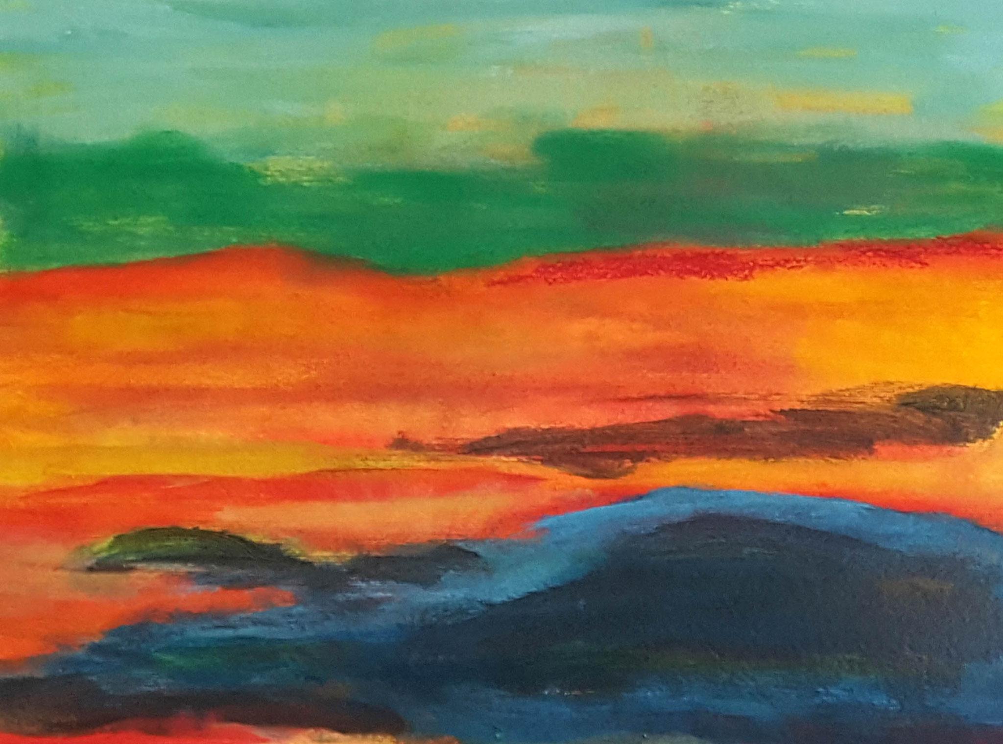 """""""Teufelsmoor abstract"""" Acryl auf Leinwand / 40 cm x 50 cm"""