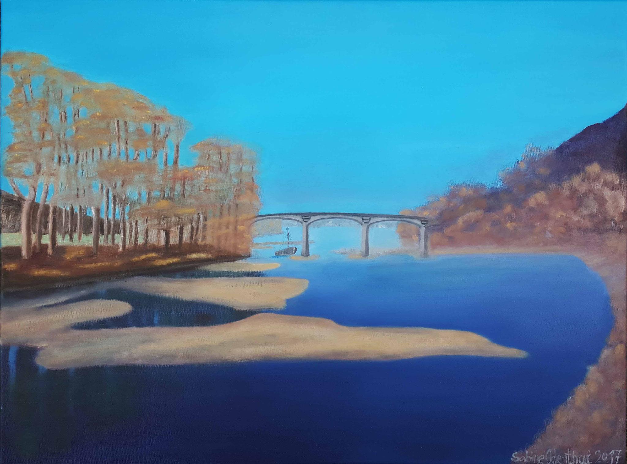 """""""Rheinbrücke"""" Öl auf Leinwand"""