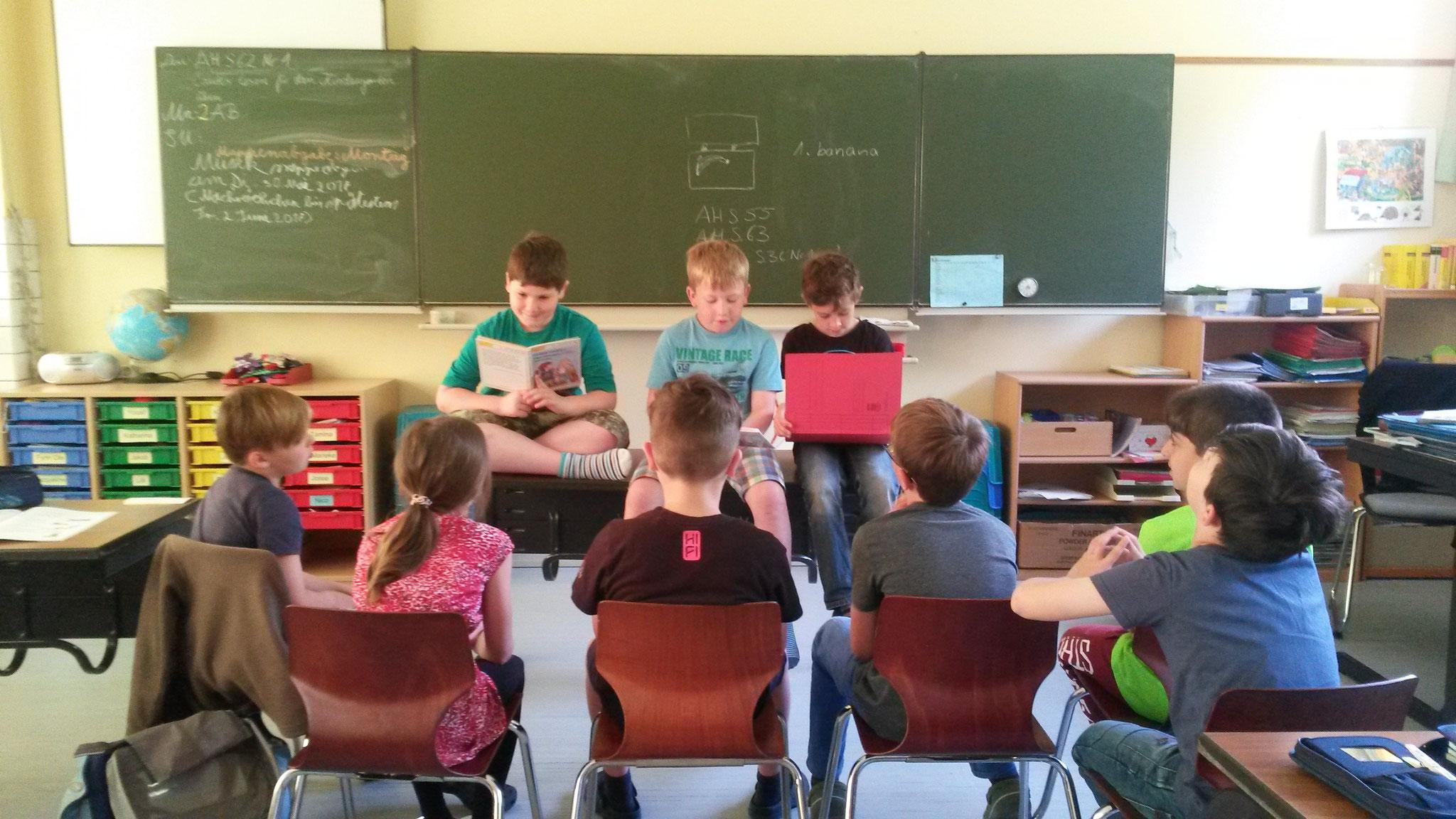 Vorletzte Probe vor dem Vorlesen im Kindergarten