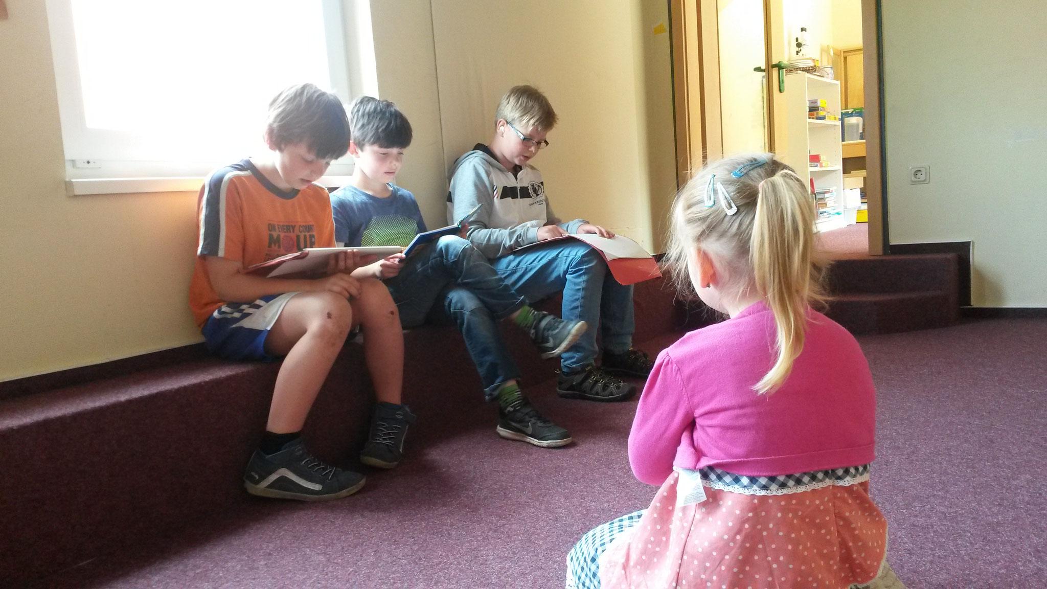 Im Kindergarten gibt es tolle Orte zum Vorlesen