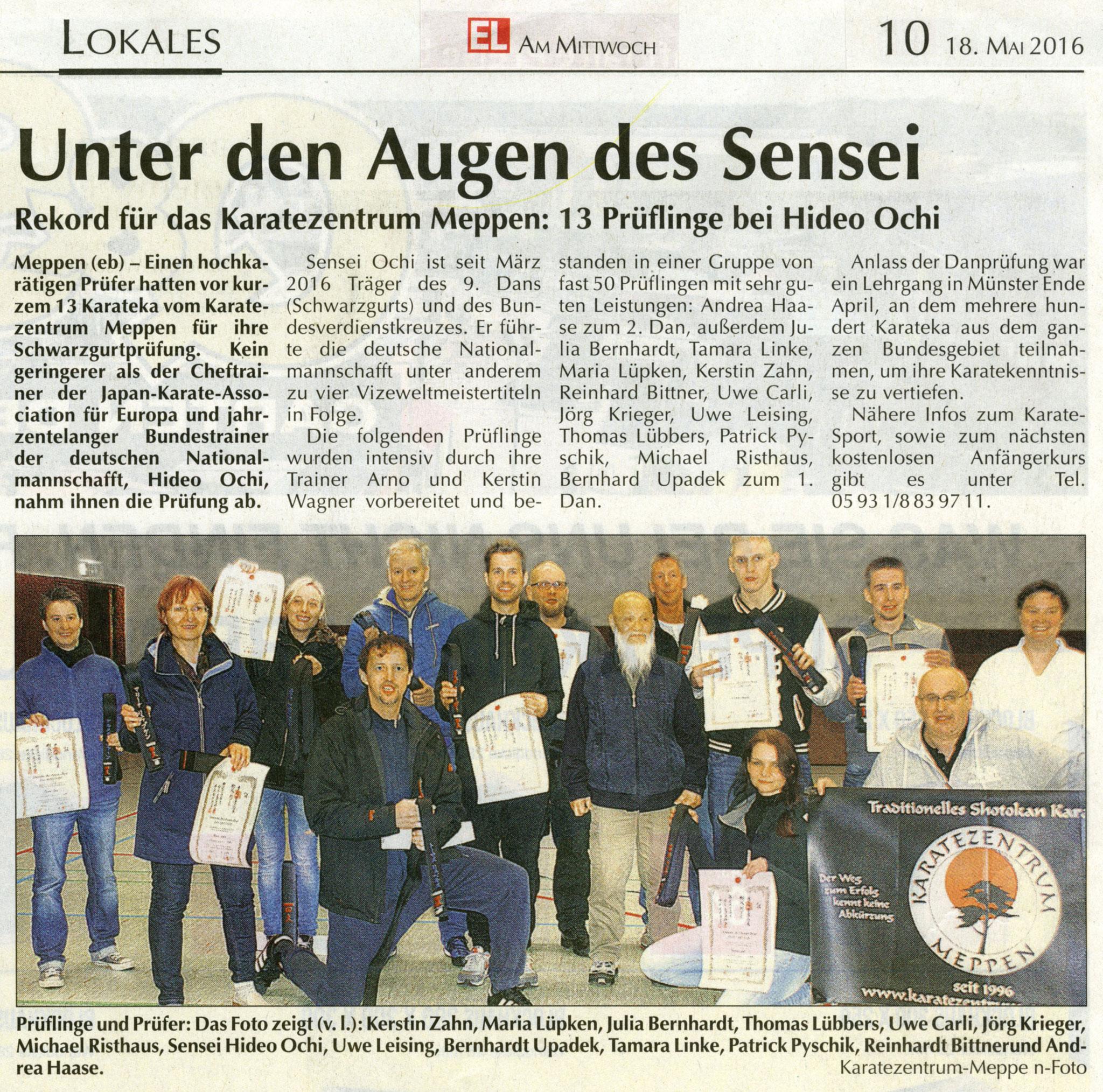 Danprüfungen Münster 30.04.2016, EL-Kurier am 18.05.2016