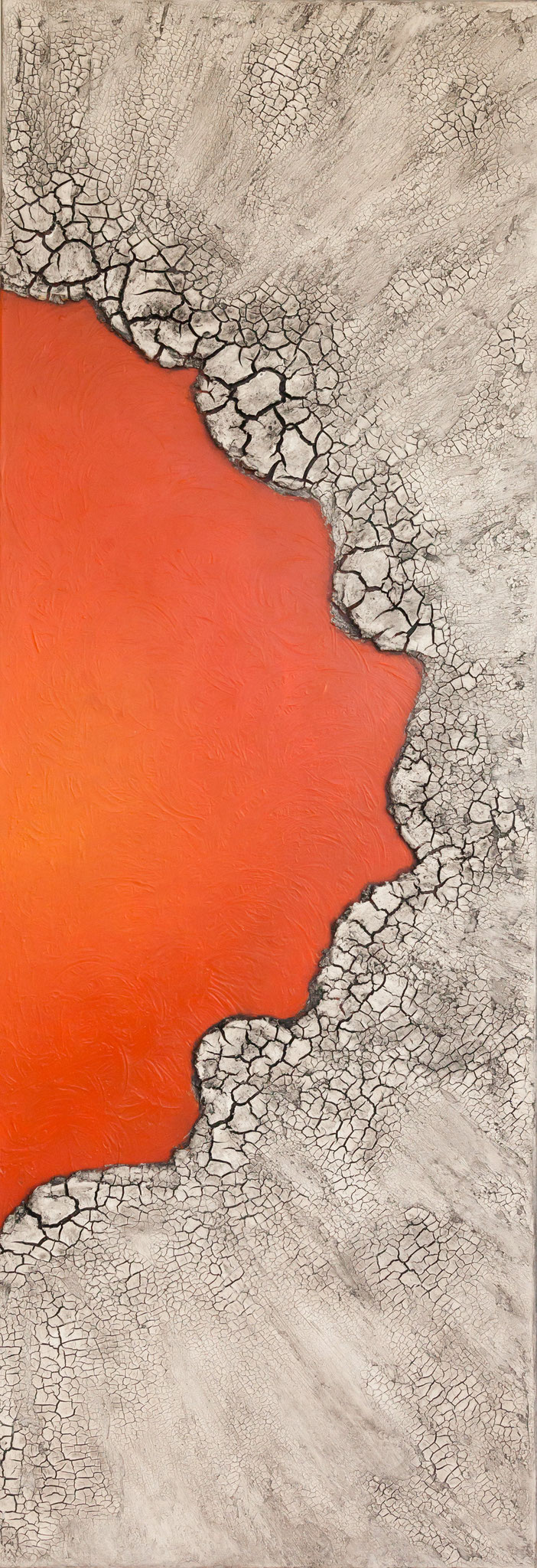 """Grenzen II"", 50 cm x 150 cm - verkauft"