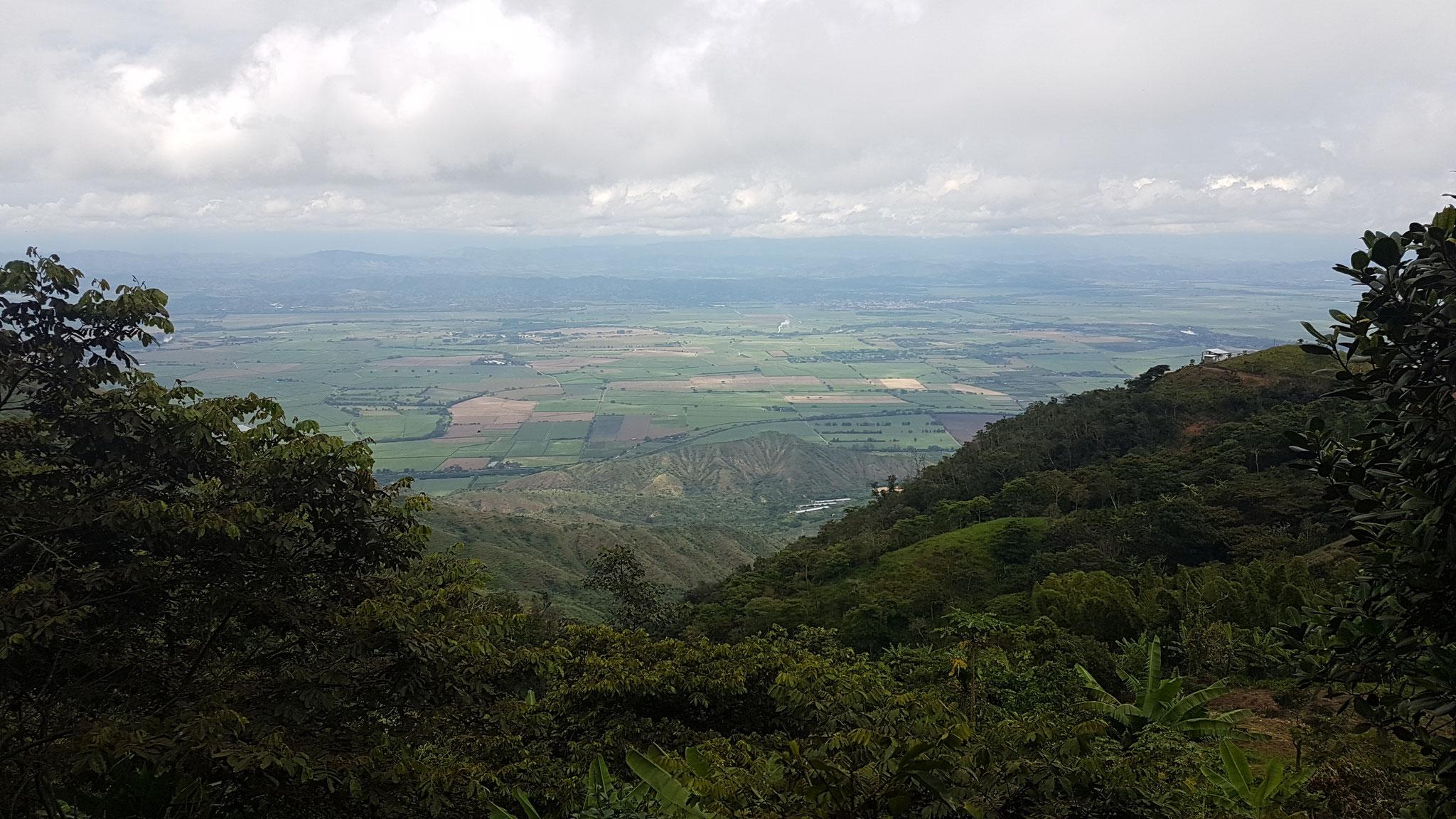 Vue de la Vallée del Cauca depuis la Finca