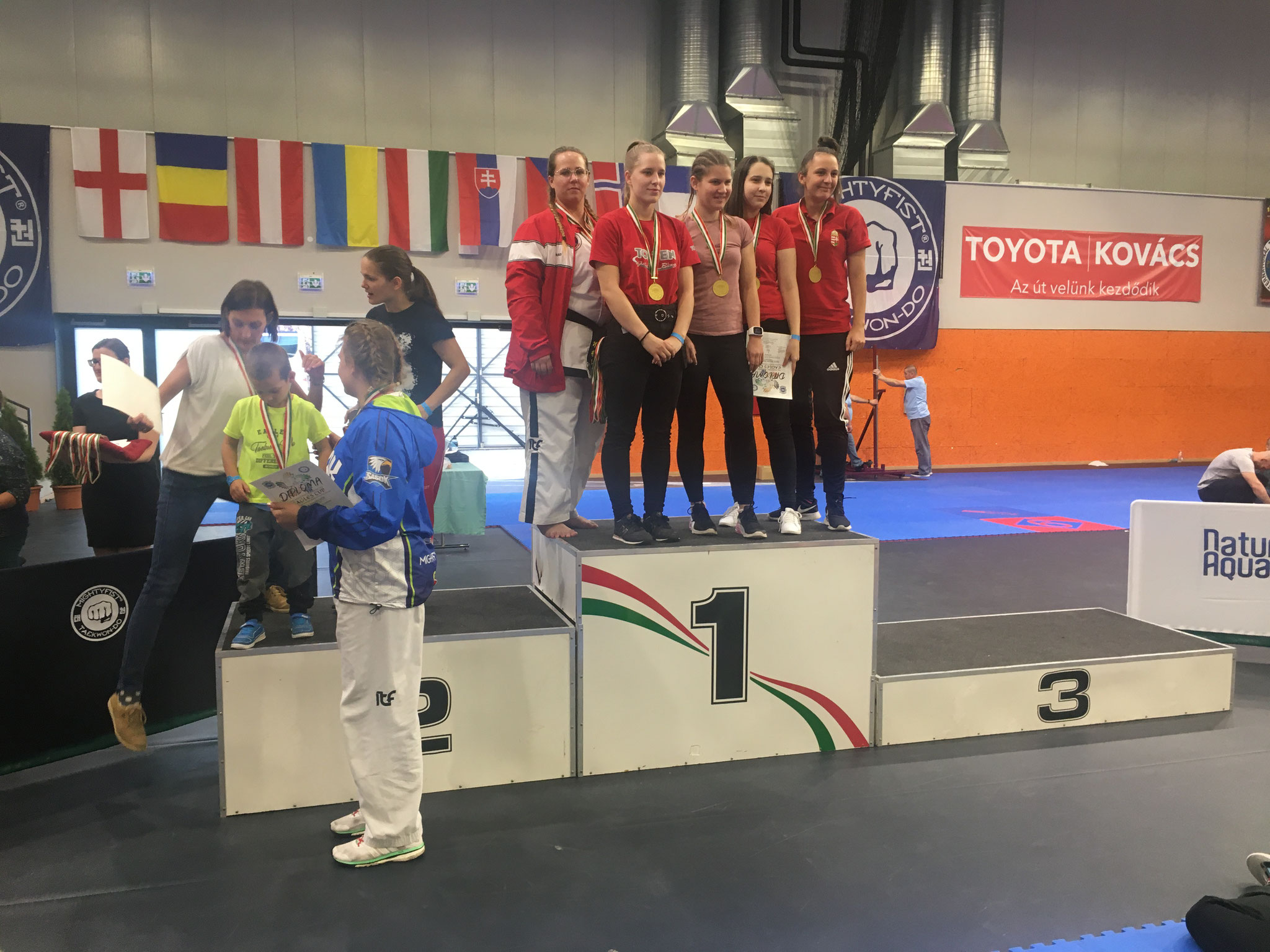 Christina - 1. Platz im Teamsparring