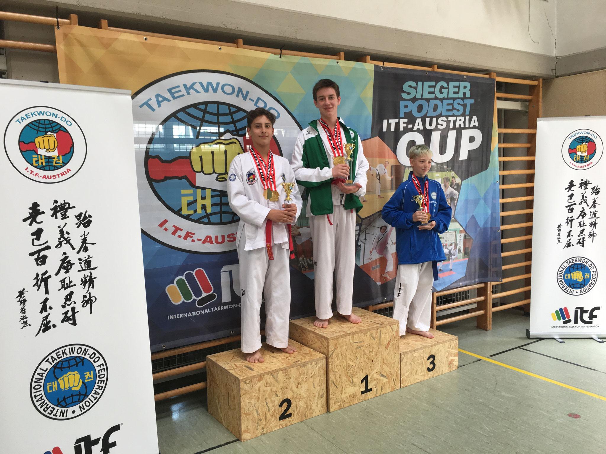 Gesamtwertung Kids: Konstantin, Tobias, Dominik 1., 2. und 3 Platz
