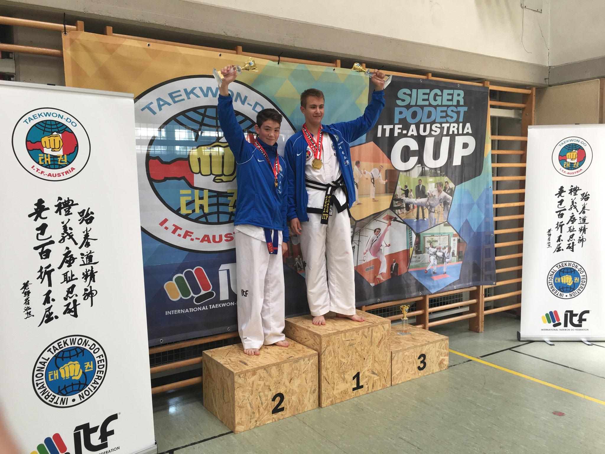 Gesamtwertung Junioren: Sebastian und Matthias 1. und 2. Platz