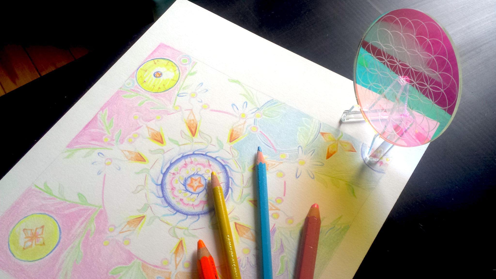 cercle de lumière. Séverine Saint-Maurice. Fleur de vie. lescerclesdelumiere.com