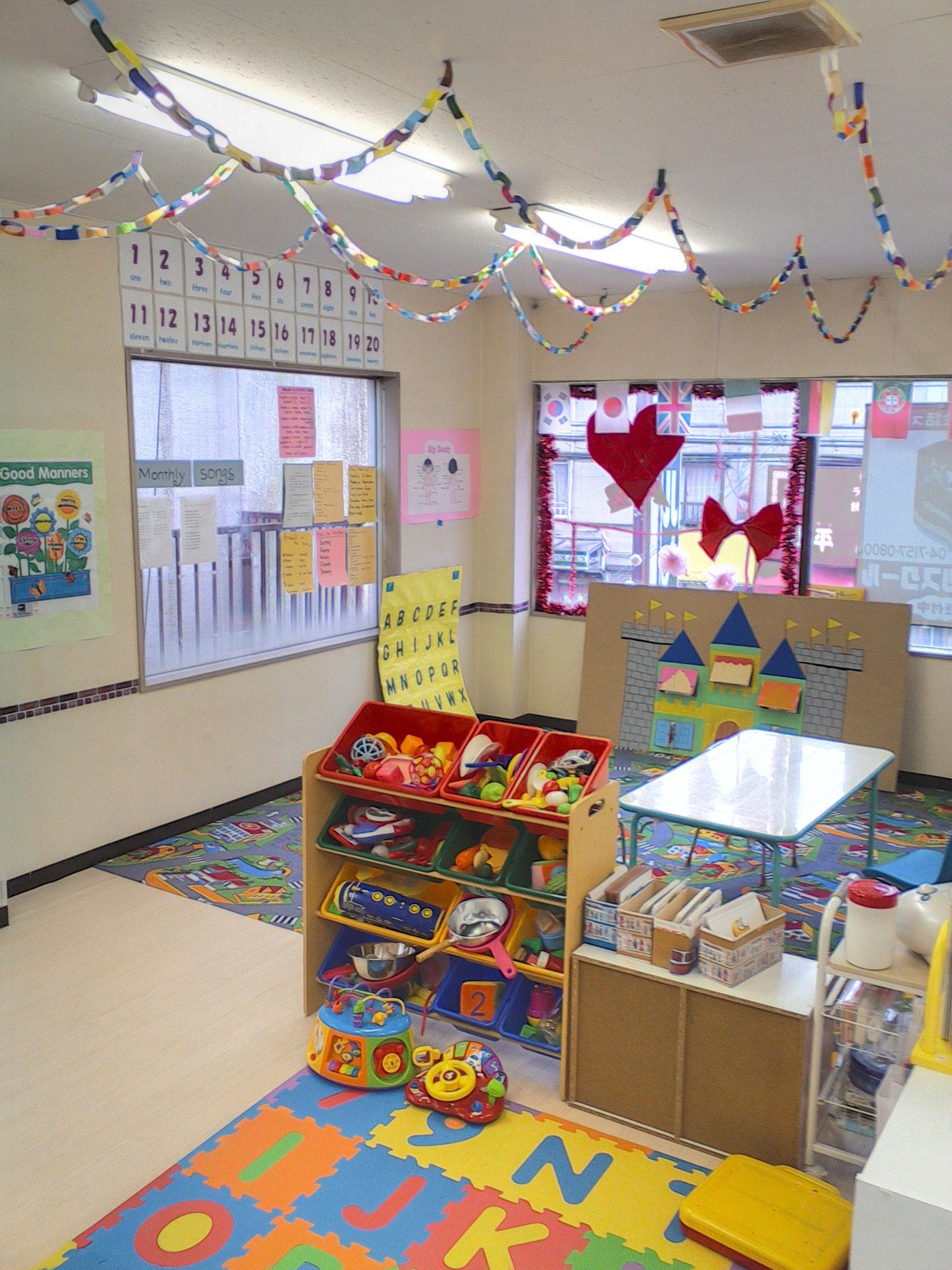 お教室はお子さんのクリエイティヴィティを育てる仕掛けがいっぱい!!
