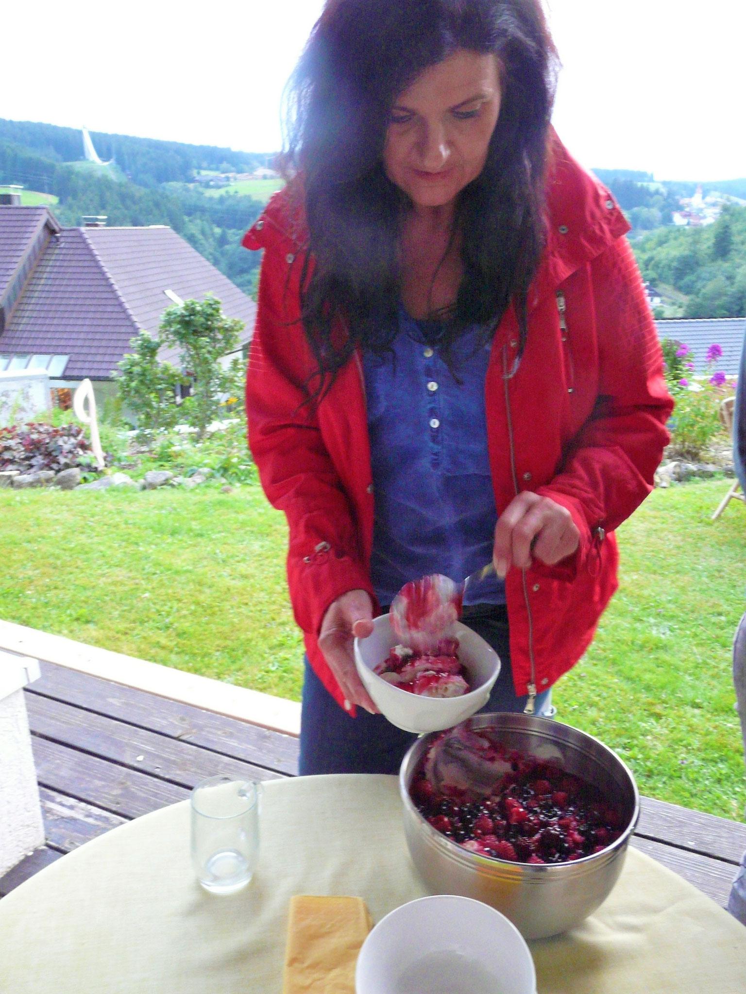 ..und  fruchtigen Nachtisch....hm lecker....