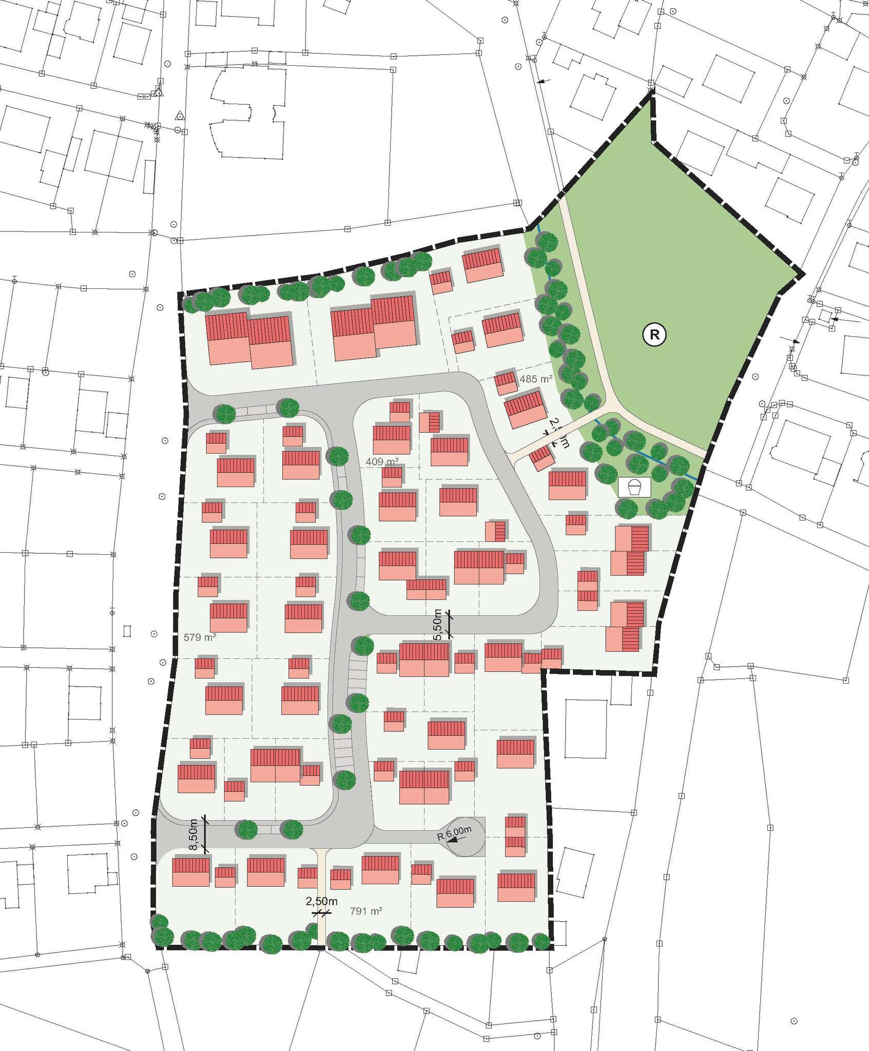 """Allersberg """"Wohngebiet Im Keinzl"""" - städtebaulicher Entwurf"""