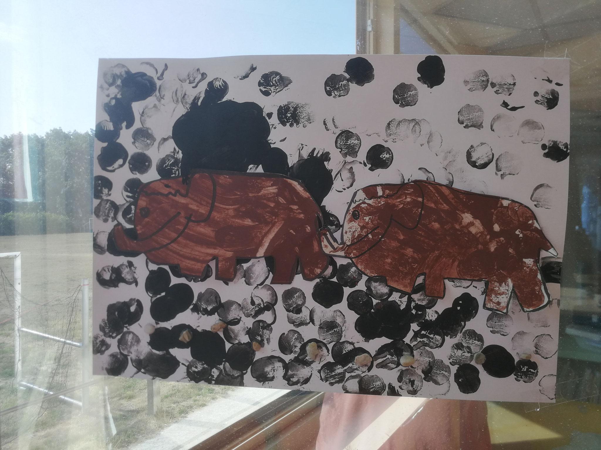 Mammouths - peinture rupestre (Maternels)