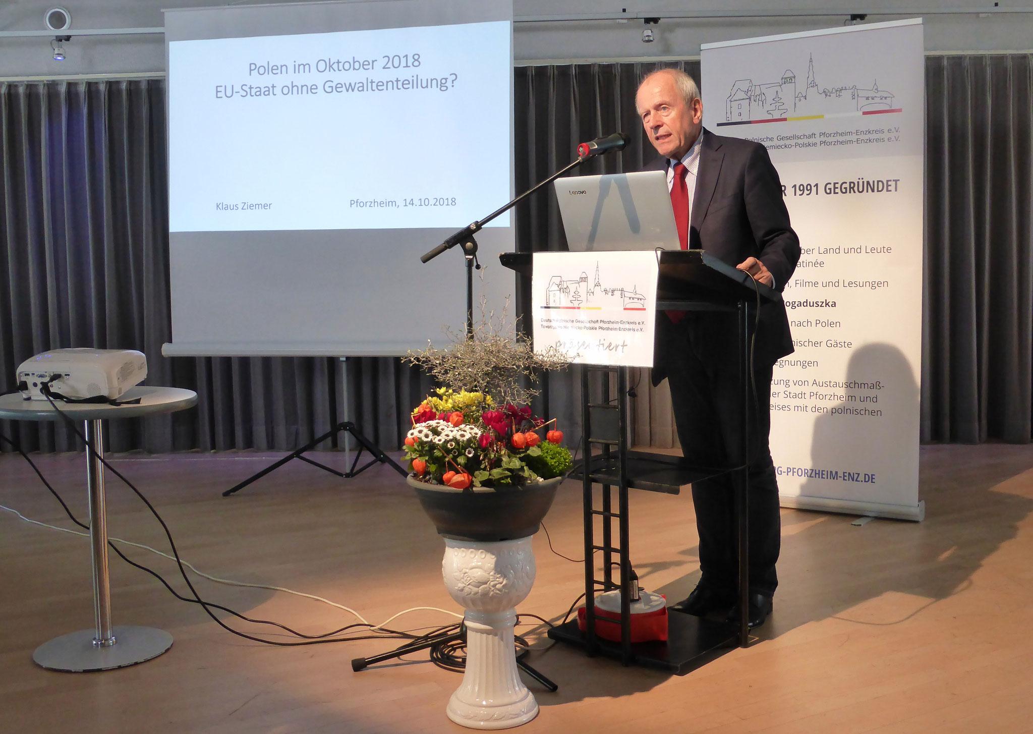 K. Ziemer beim Vortrag