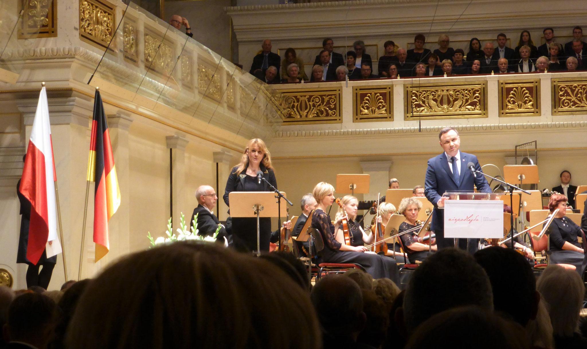 Ansprache Staatspräsident A. Duda beim Festkonzert im Konzerthaus am Gendarmenmarkt