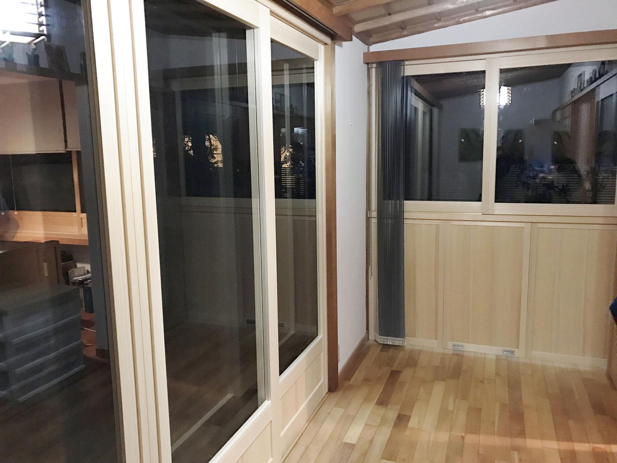 断熱 木製引違い戸