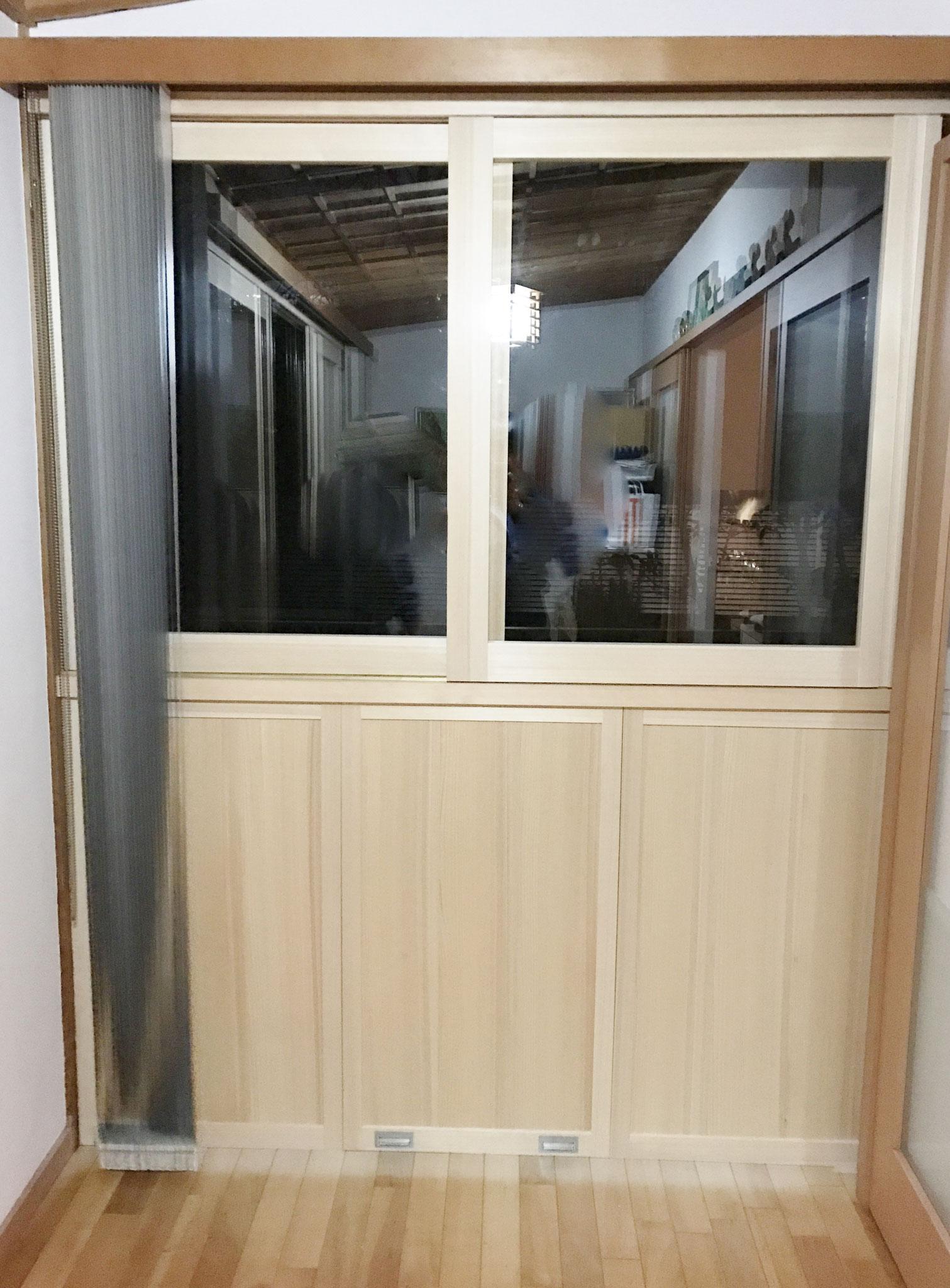 断熱 木製引違い戸 2枚