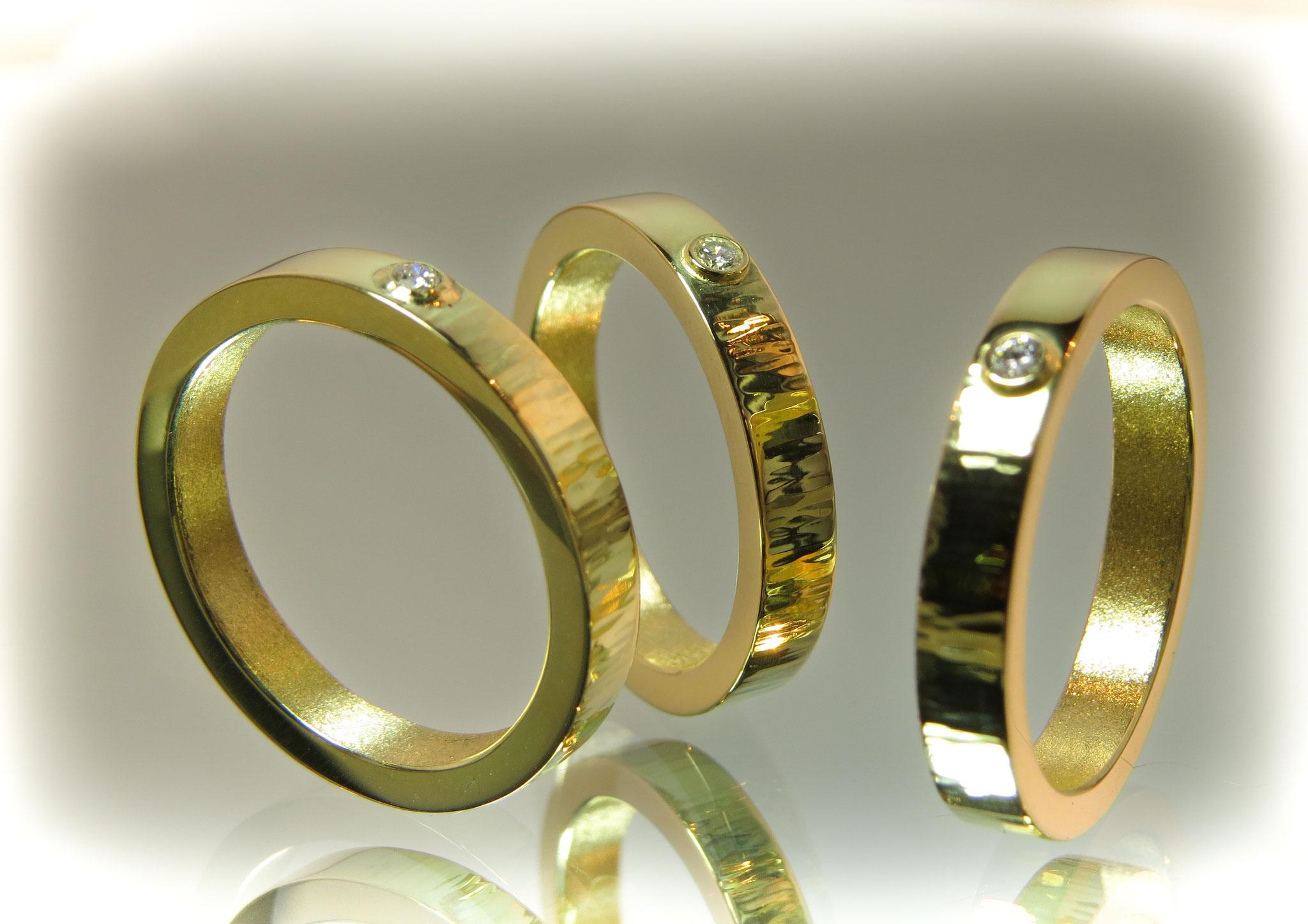 14kt goud met Diamant